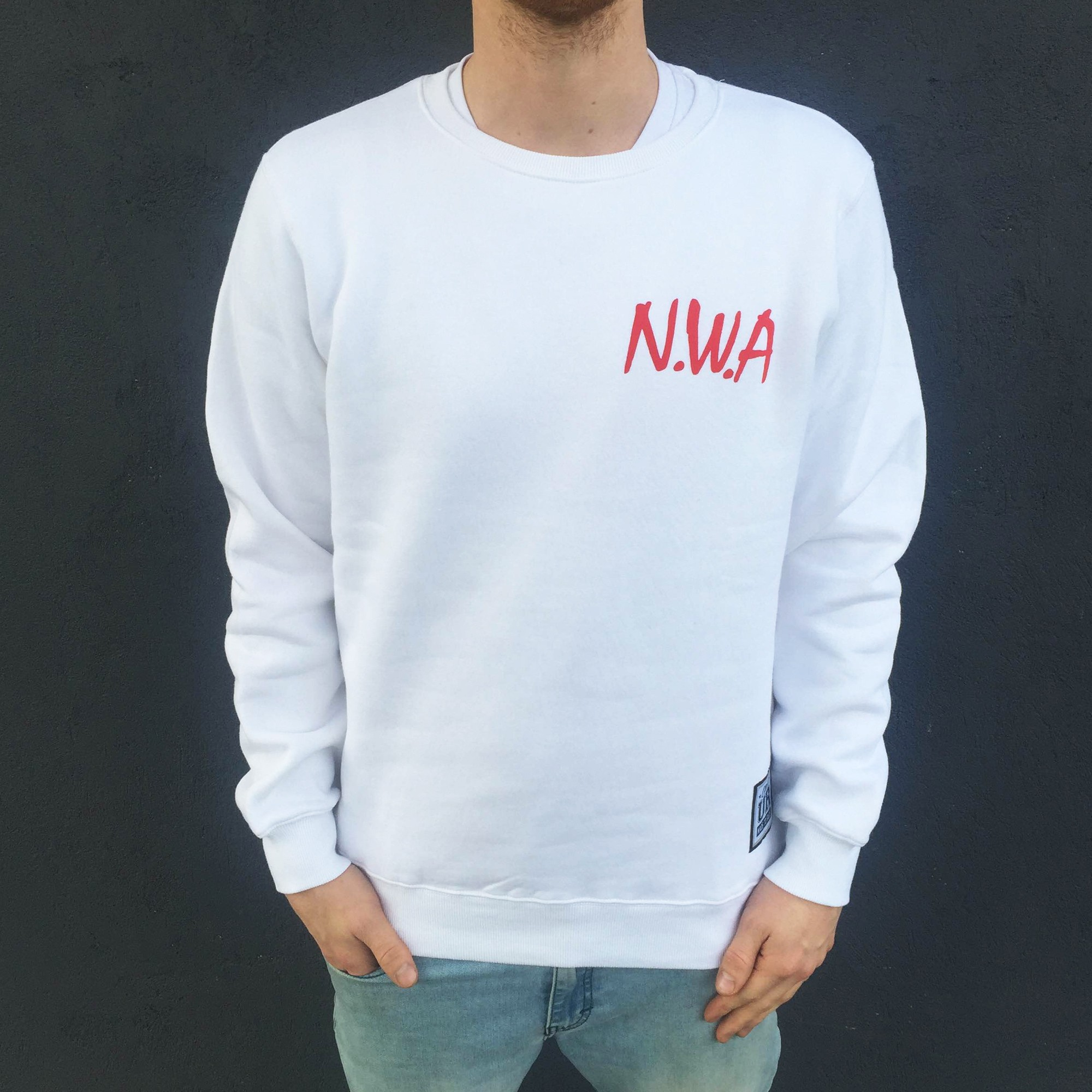 NWA FRONT AND BACK WHITE CREW