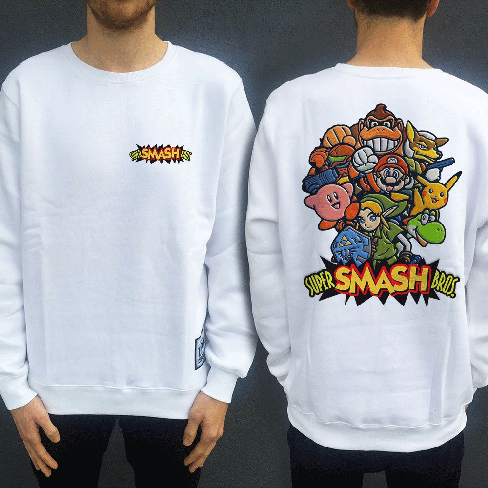 SMASH BROS FRONT AND BACK CREW