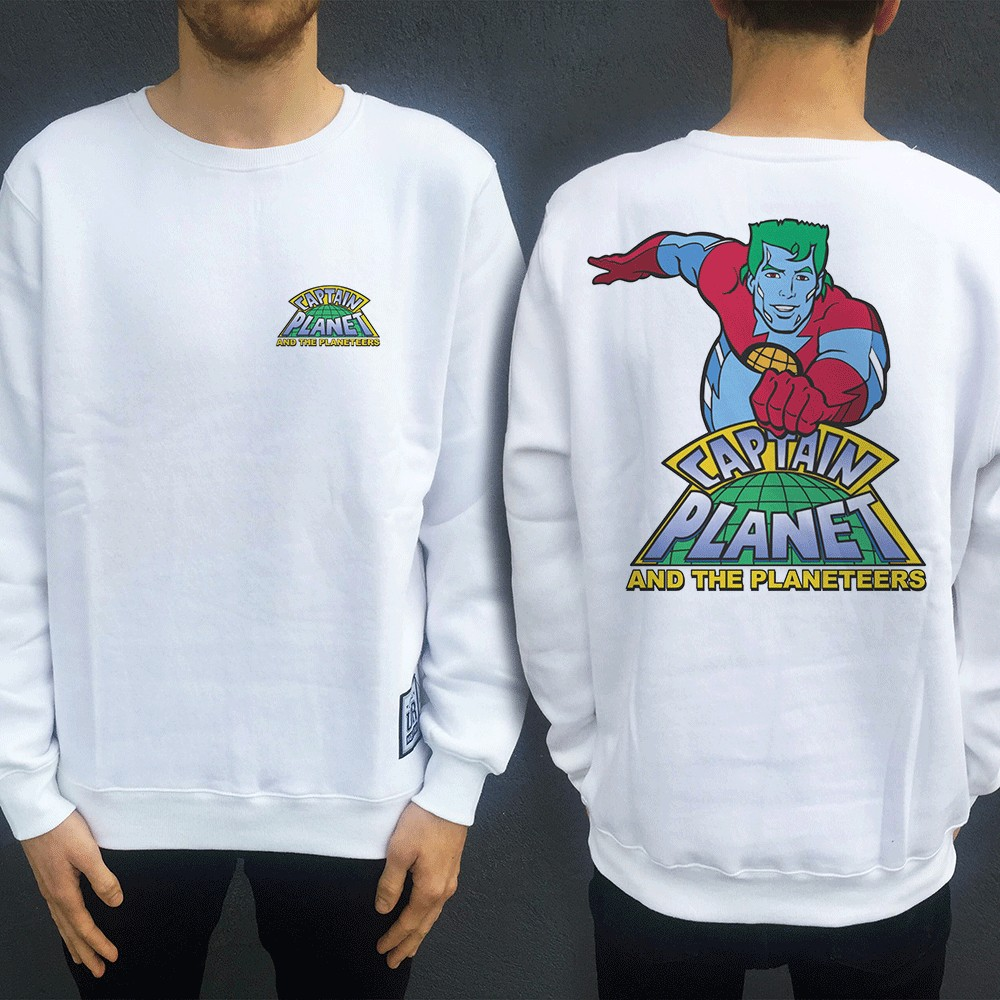 CAPTAIN PLANET FRONT AND BACK CREW