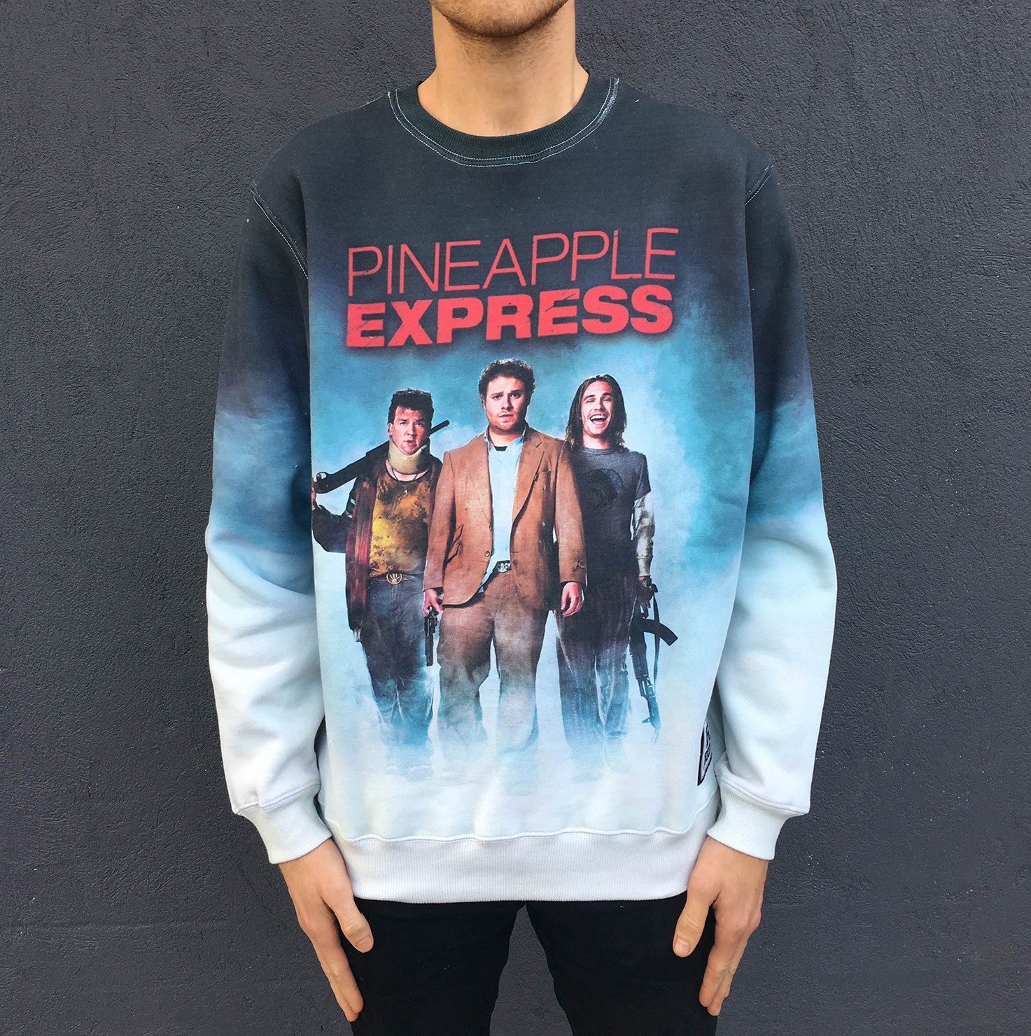 FULL PRINT PINEAPPLE EXPRESS CREW CLEARANCE