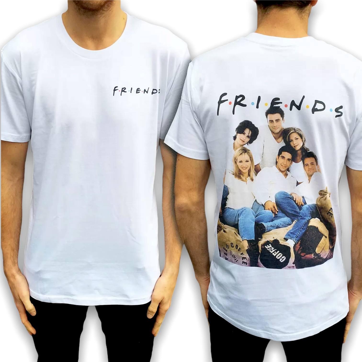 FRIENDS FRONT AND BACK TEE