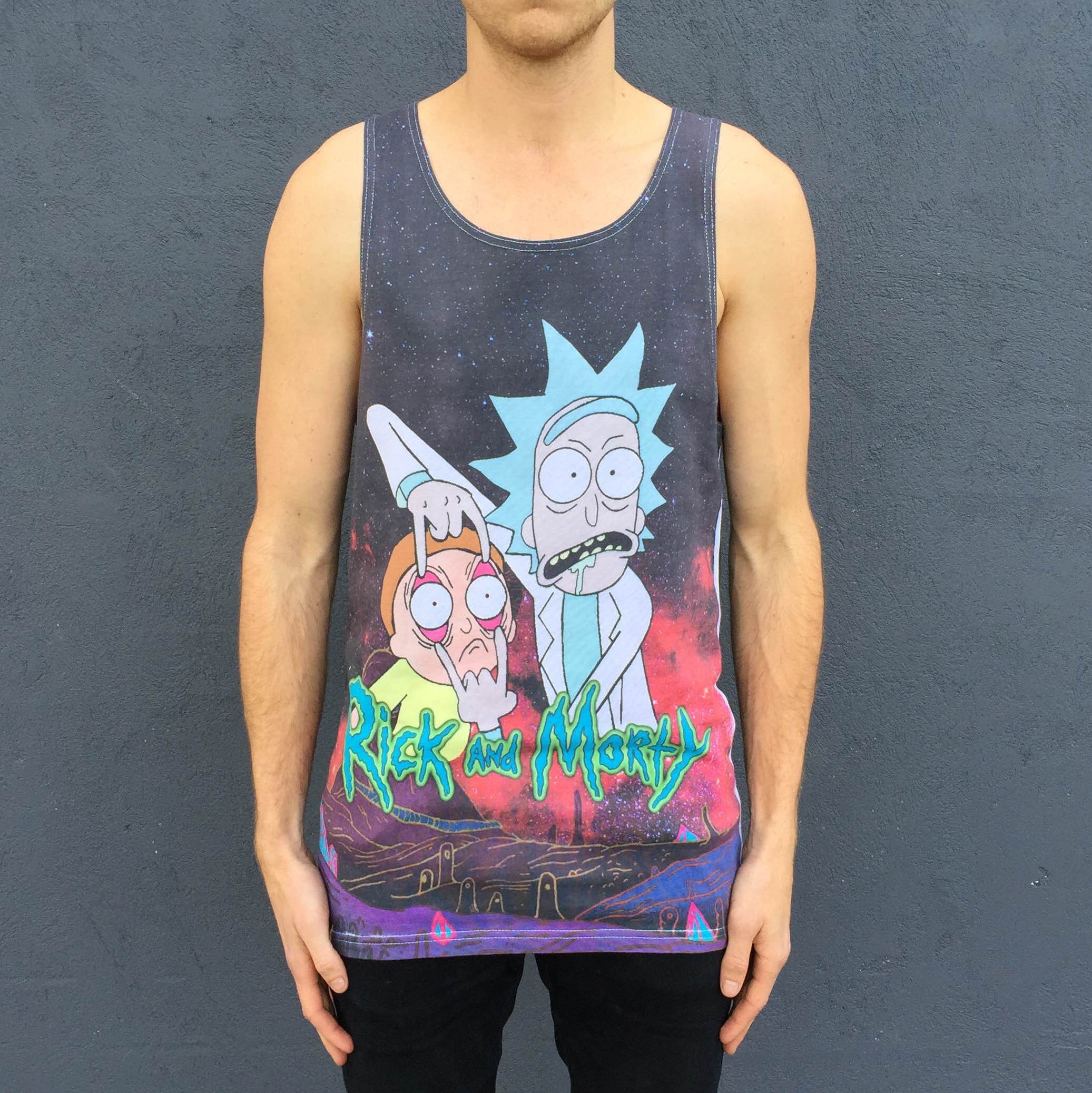FULL PRINT RICK AND MORTY SINGLET