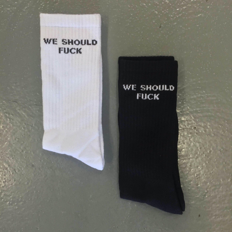 2 PACK WE SHOULD FUCK SOCKS