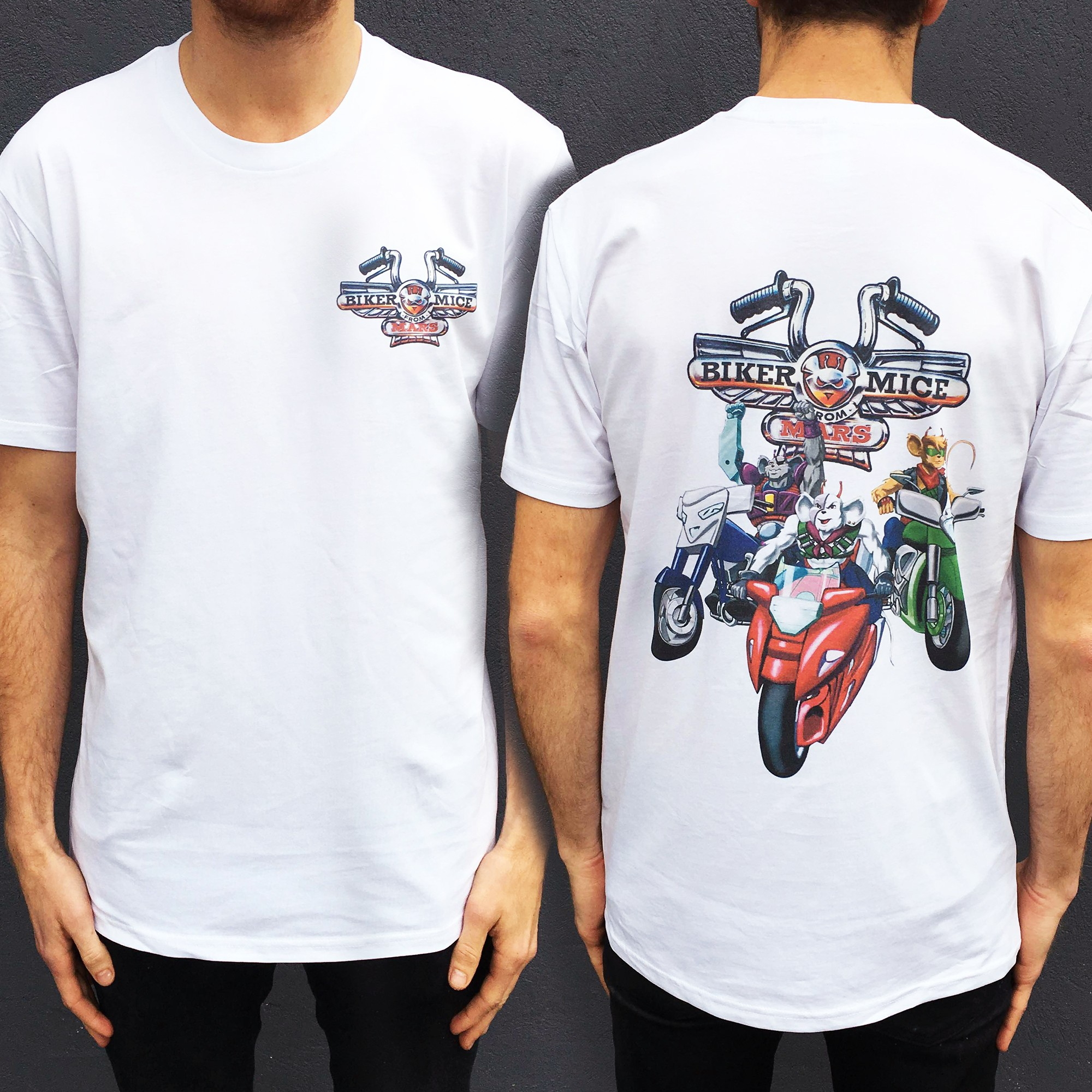 NEW BIKER MICE FRONT AND BACK TEE