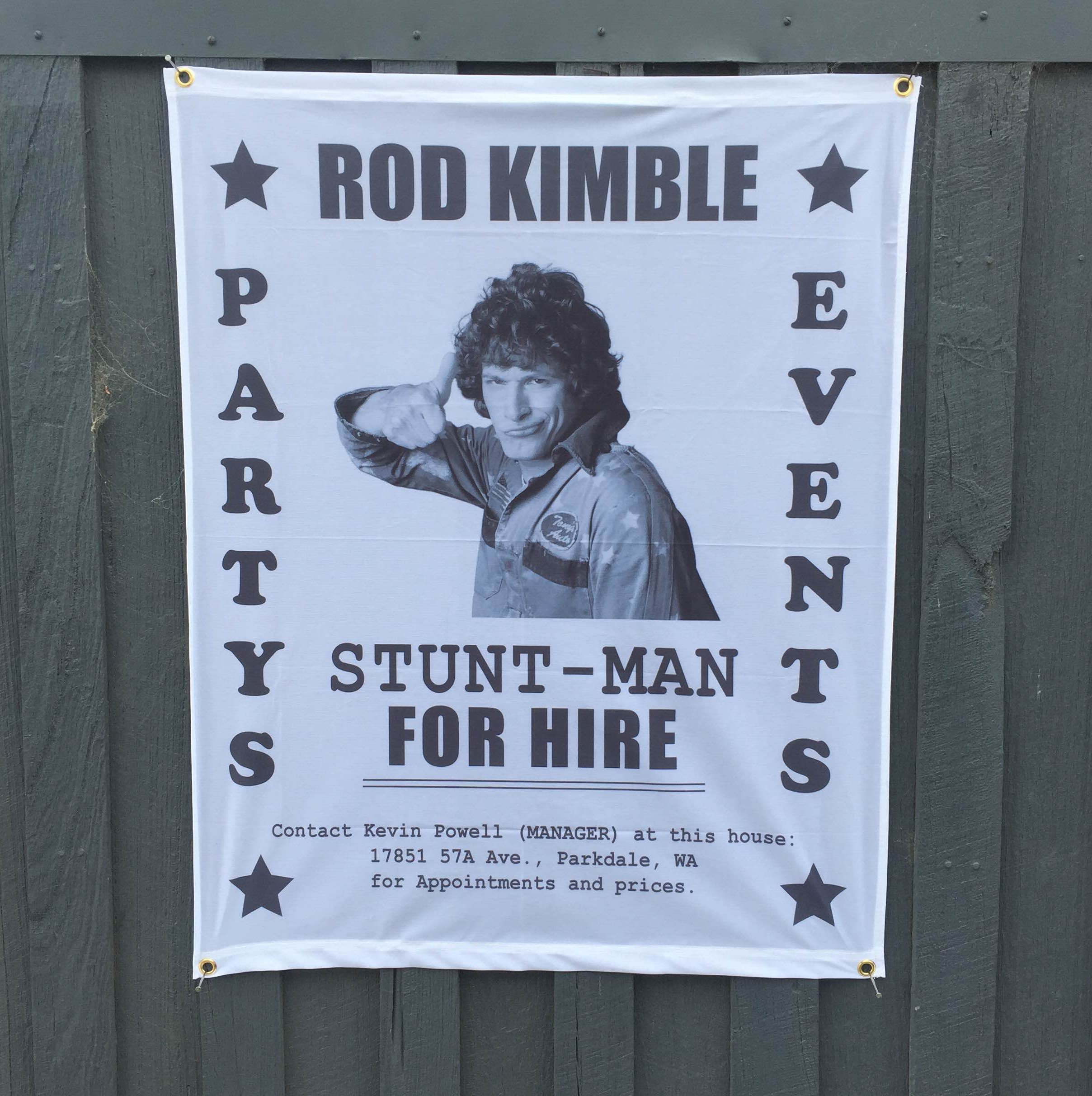 ROD KIMBLE HIRE WALL HANGING 800 X 1000MM
