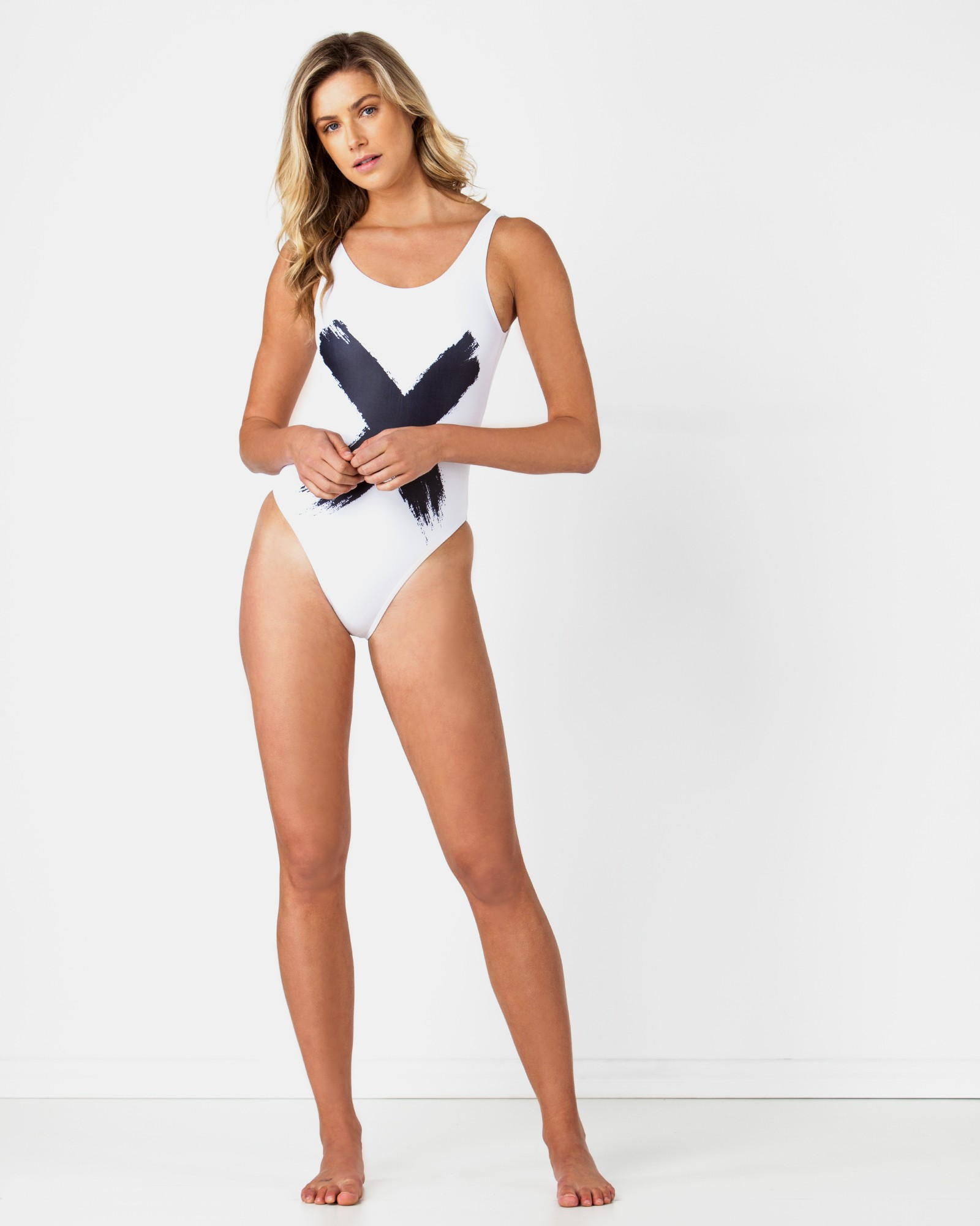 CROSS WHITE SWIMSUIT