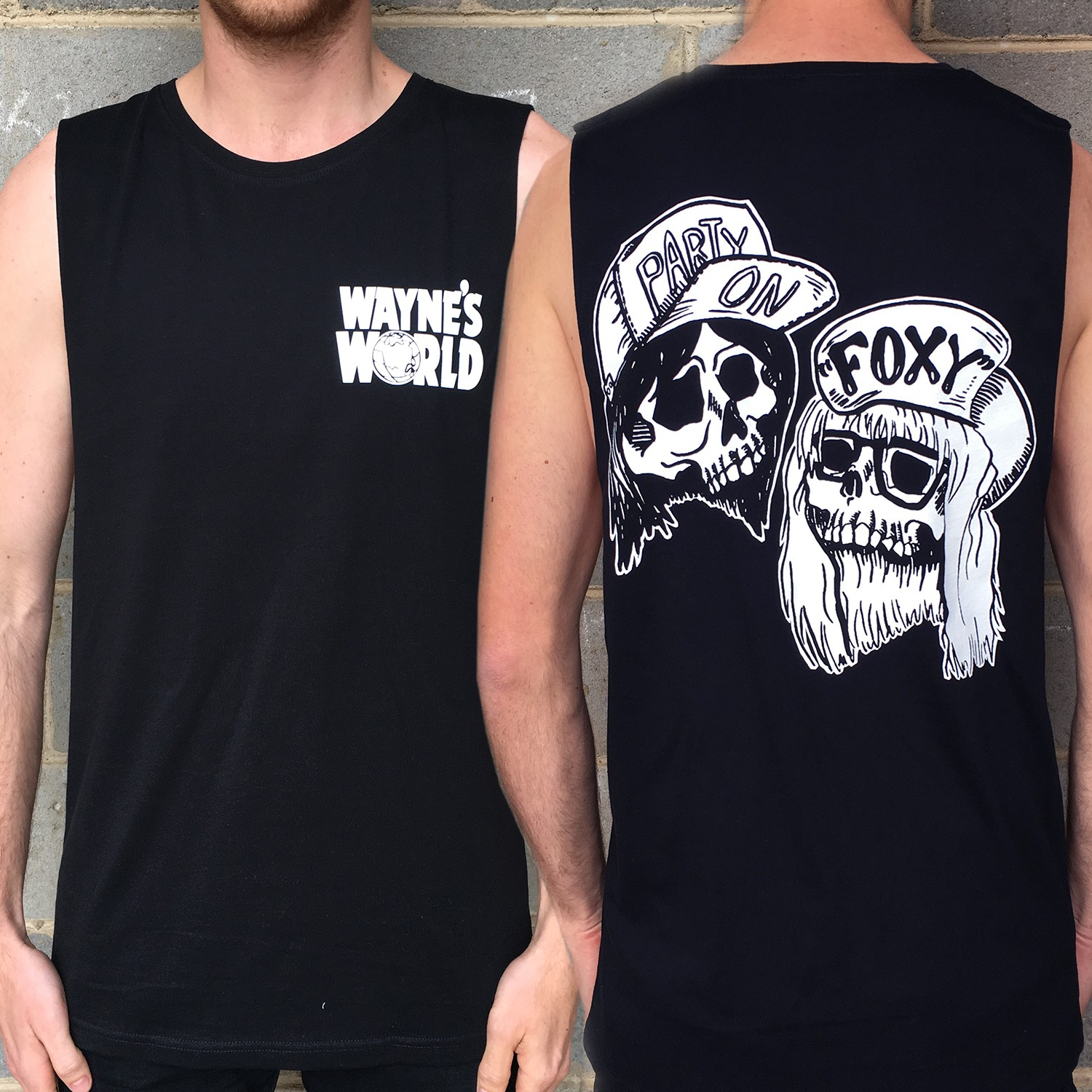 BLACK WAYNES WORLD TANK