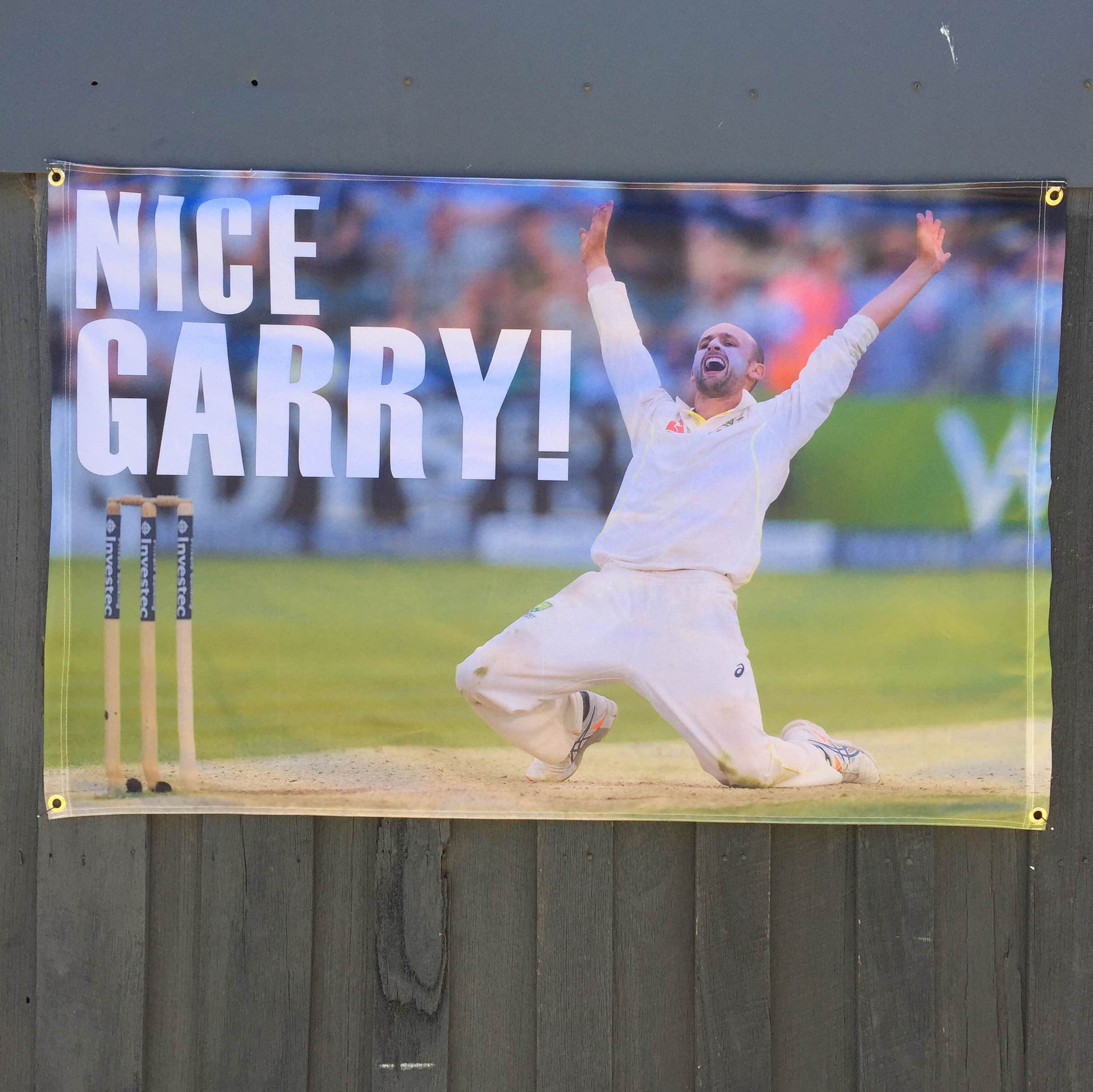 NICE GARRY CRICKET WALL HANGING 800 X 1250MM