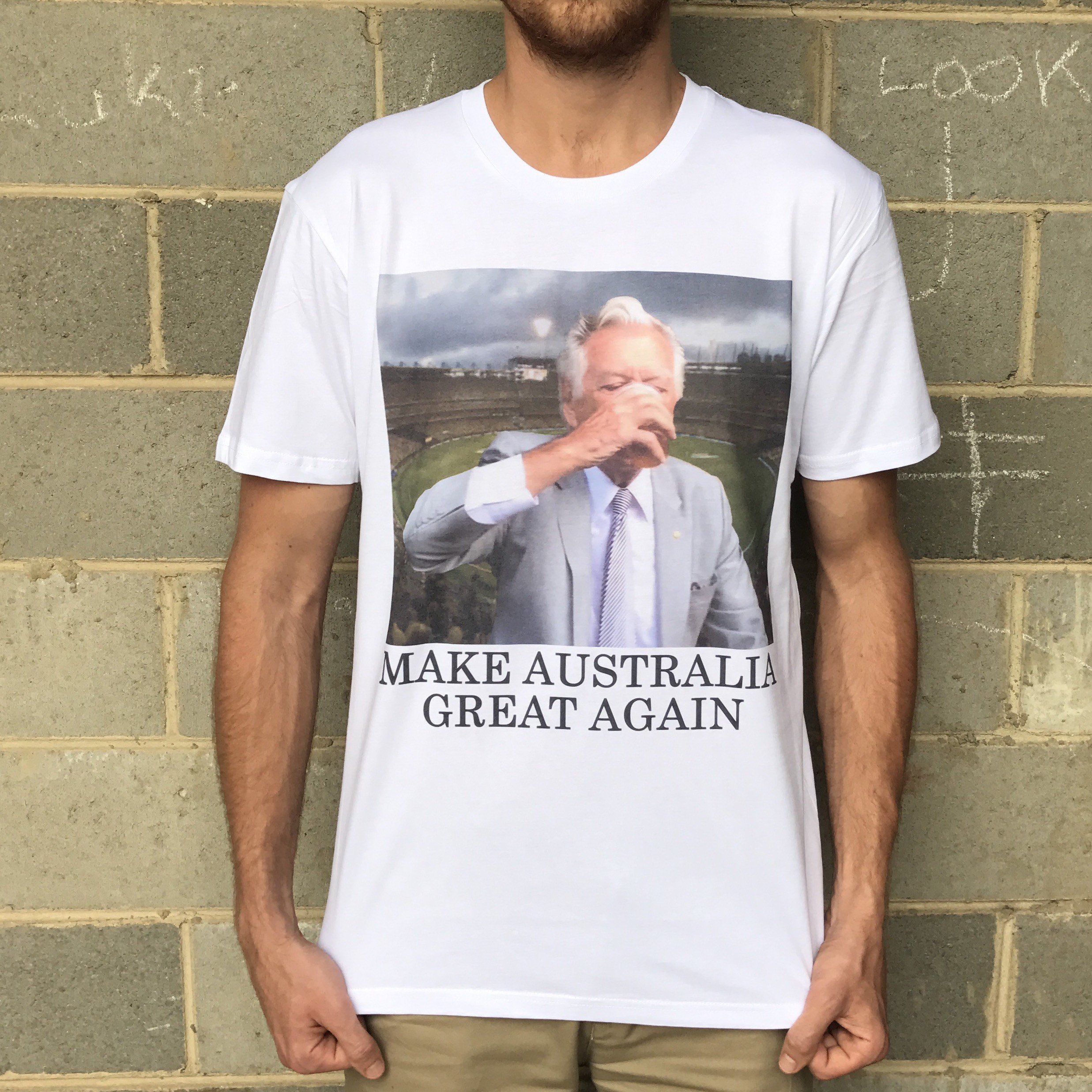 GREAT AGAIN PM WHITE TEE