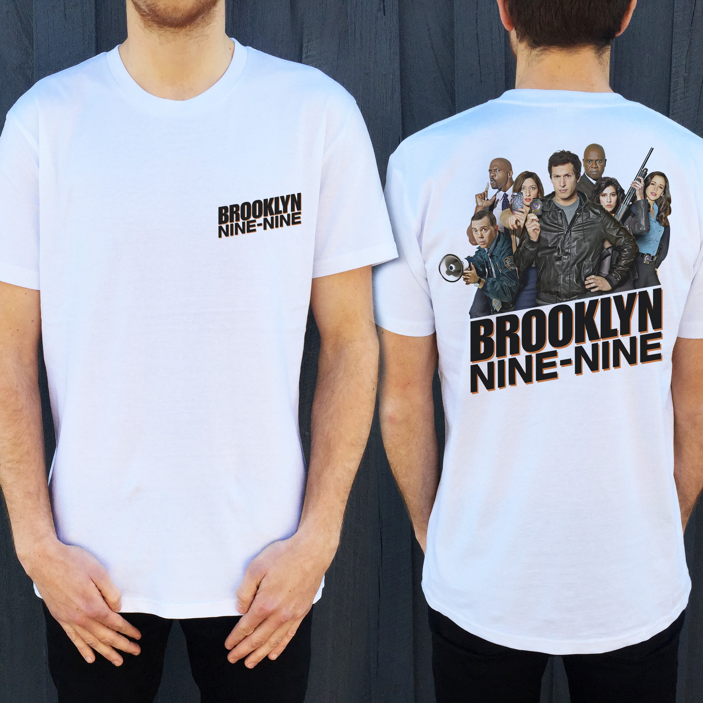 NINE NINE FRONT AND BACK WHITE TEE