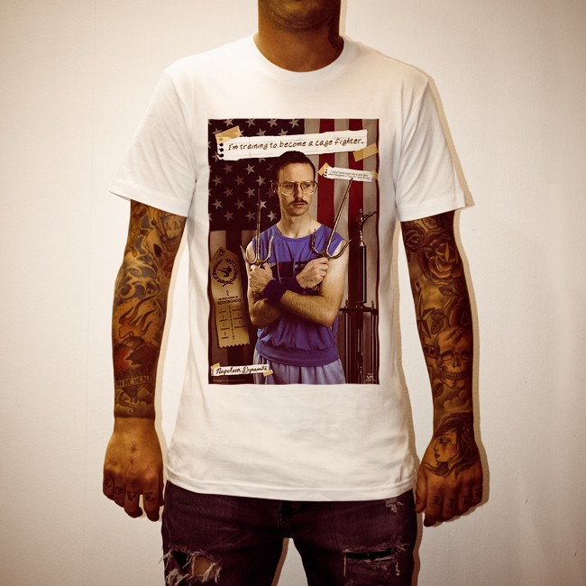 CAGE FIGHTER WHITE TEE