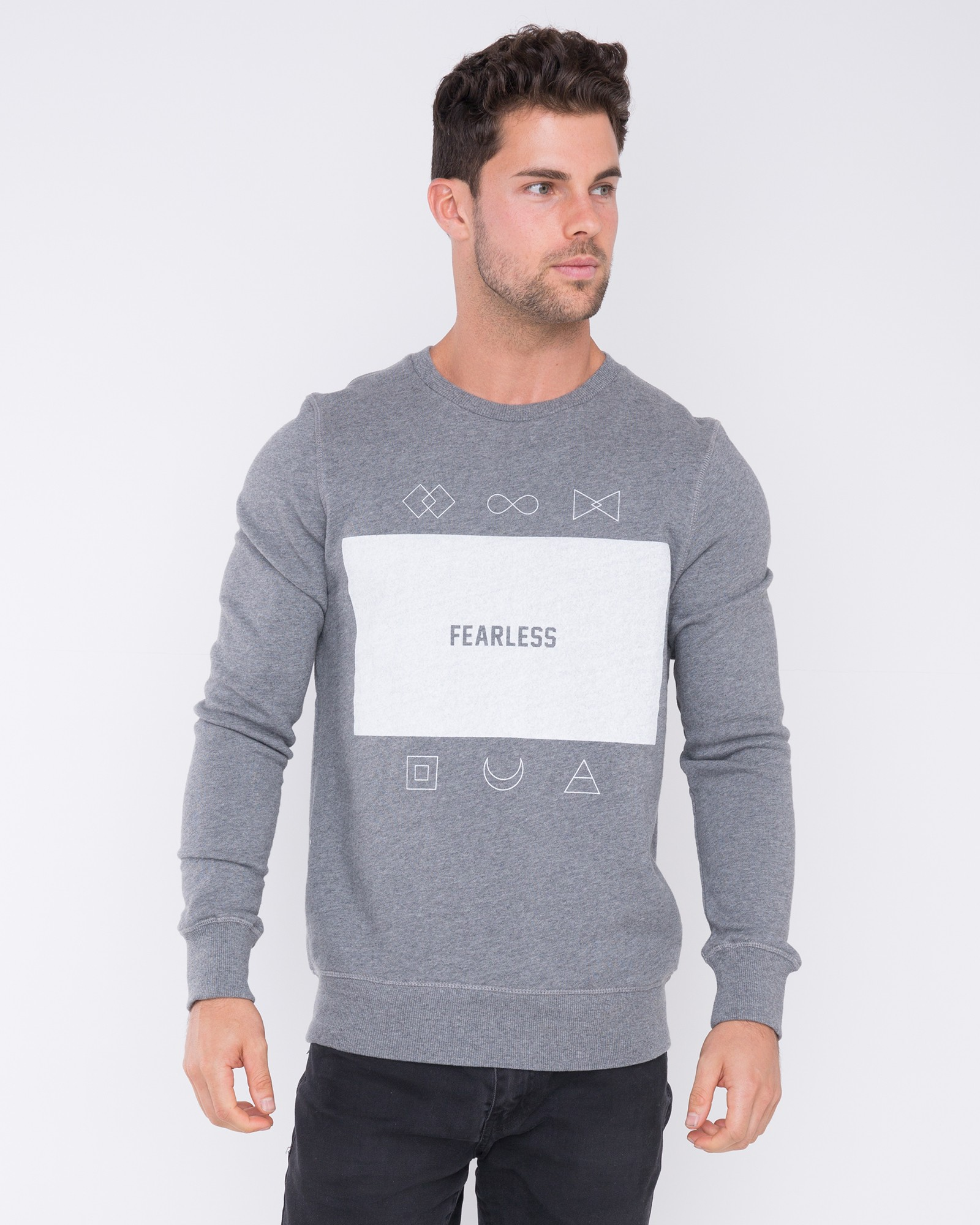 FEARLESS MARBLE GREY CREW