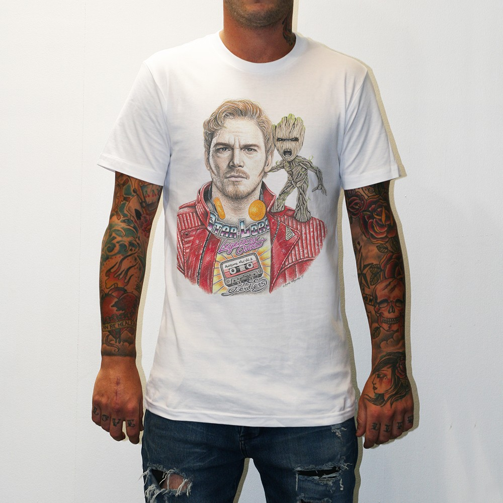 STAR LORD WHITE TEE