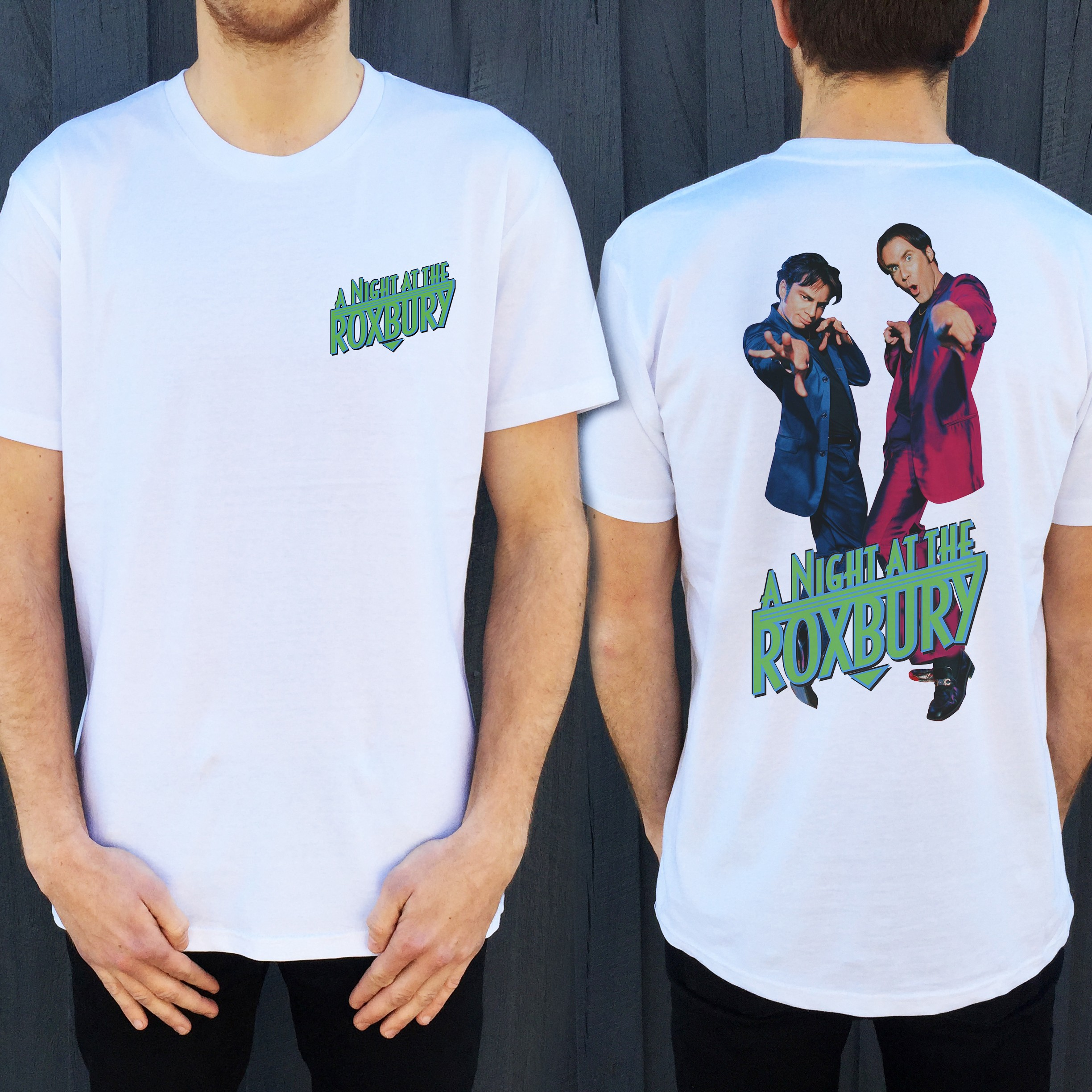 ROXBURY FRONT AND BACK WHITE TEE