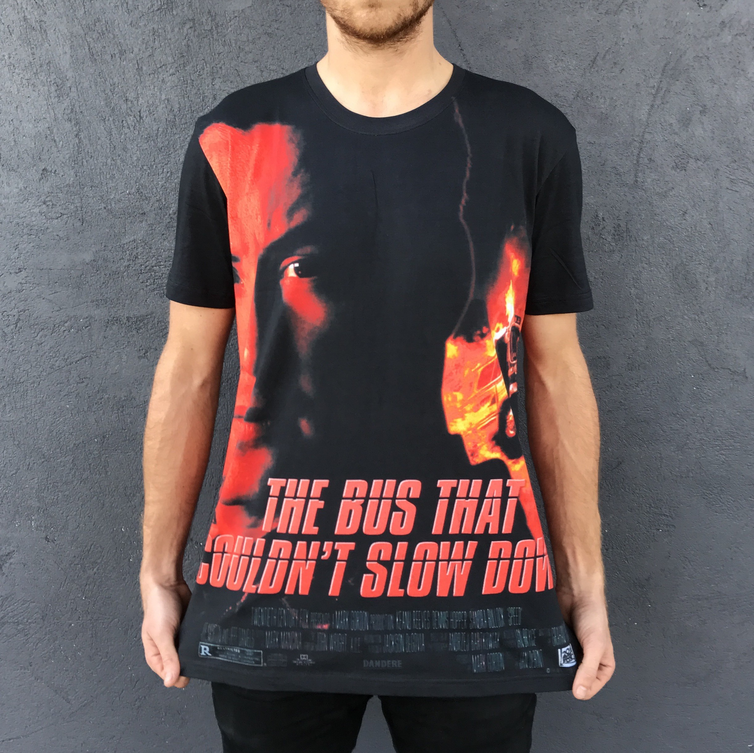 FULL PRINT BUS THAT COULDNT SLOW DOWN TEE