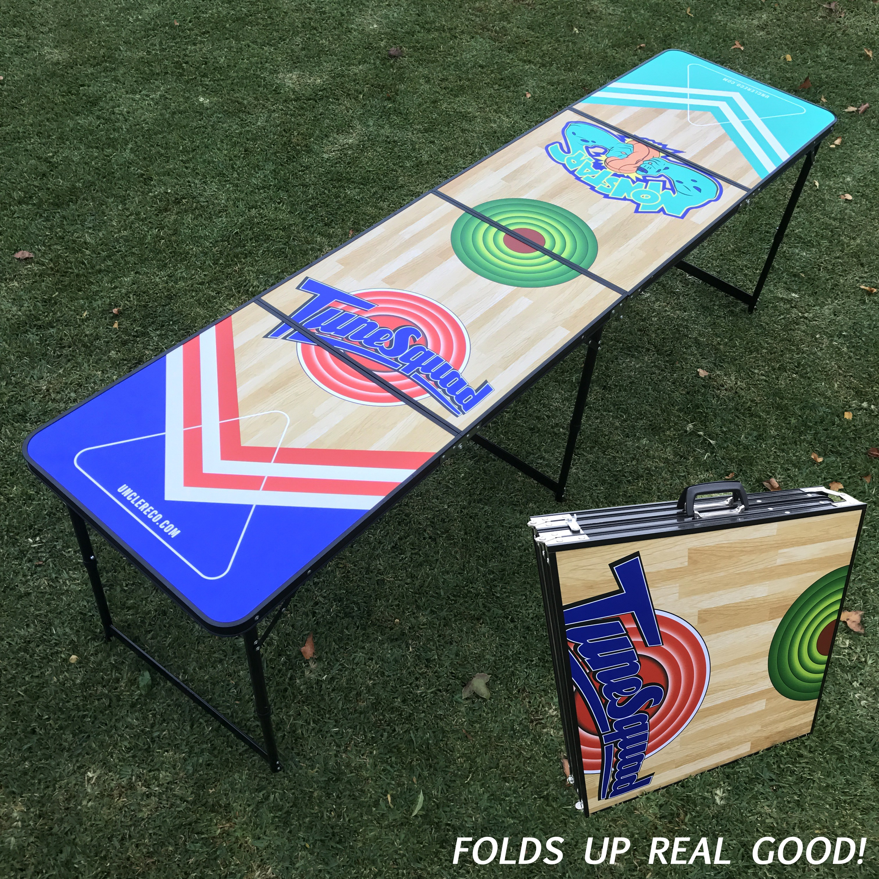 TUNE SQUAD VS MONSTARS FOLDING BEER PONG TABLE