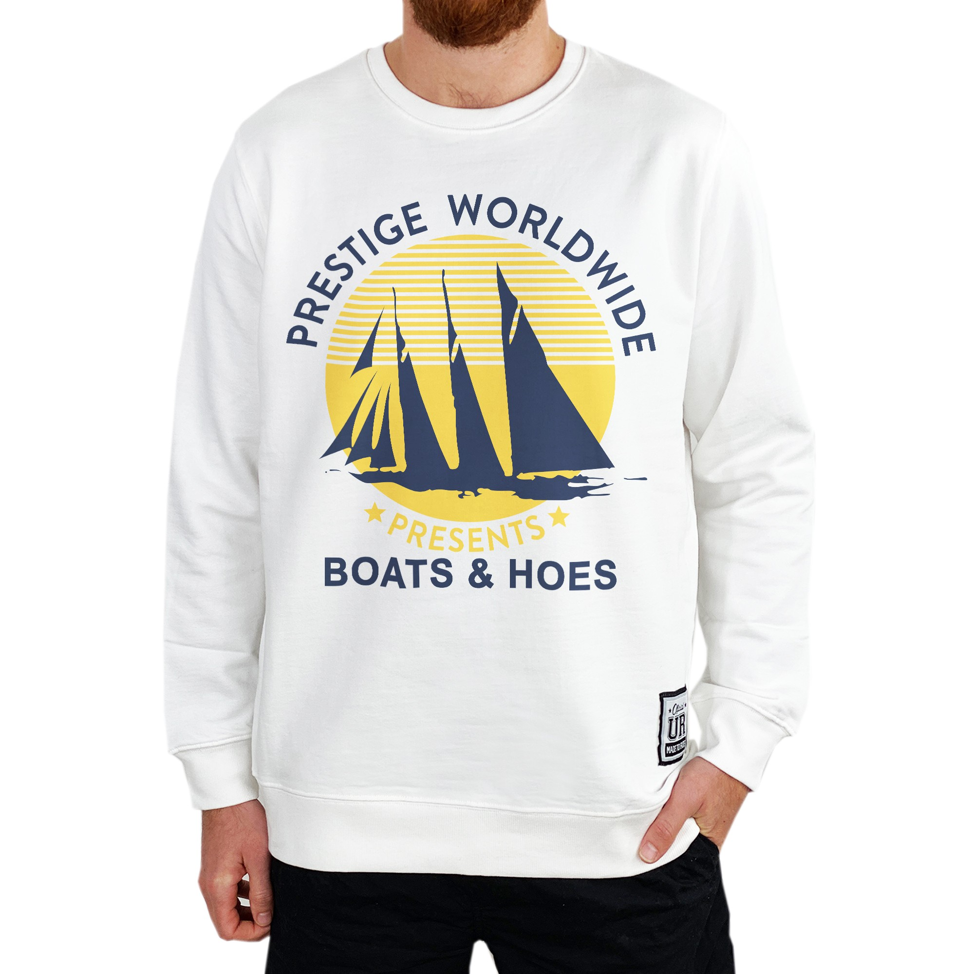 BOATS N HOES WHITE CREW