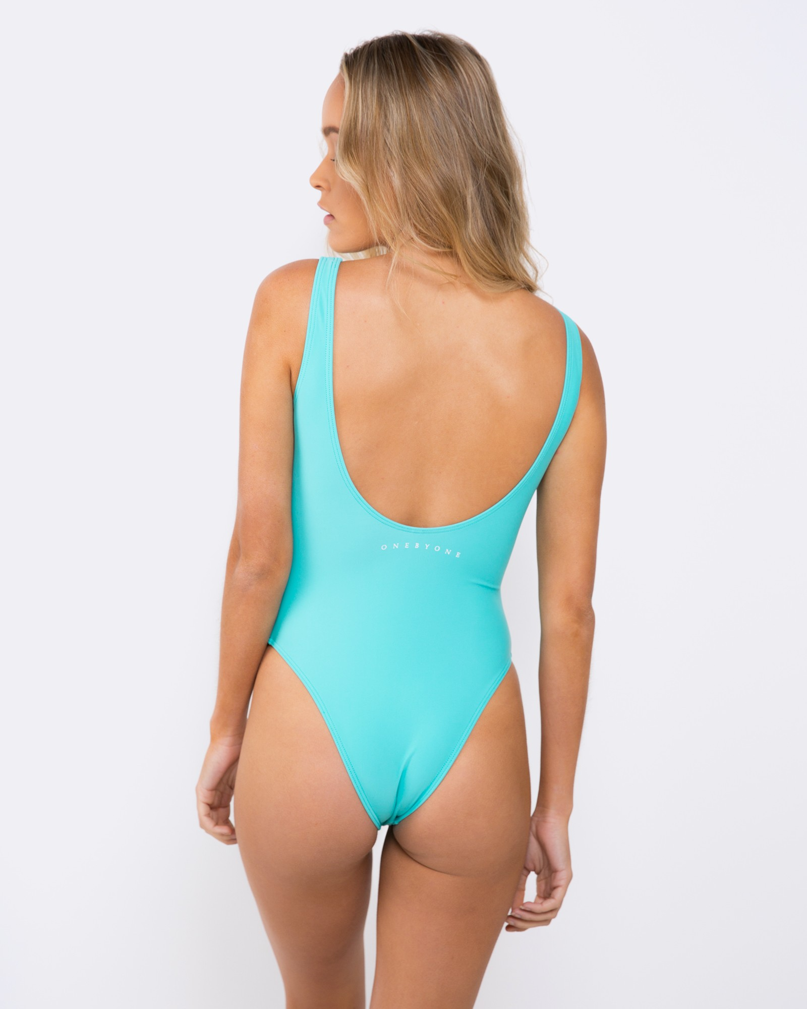 BLANK TEAL SWIMSUIT