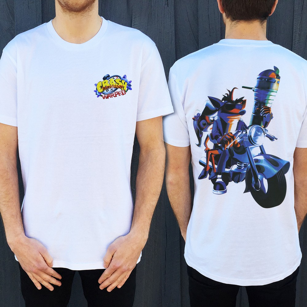 WARPED FRONT AND BACK WHITE TEE