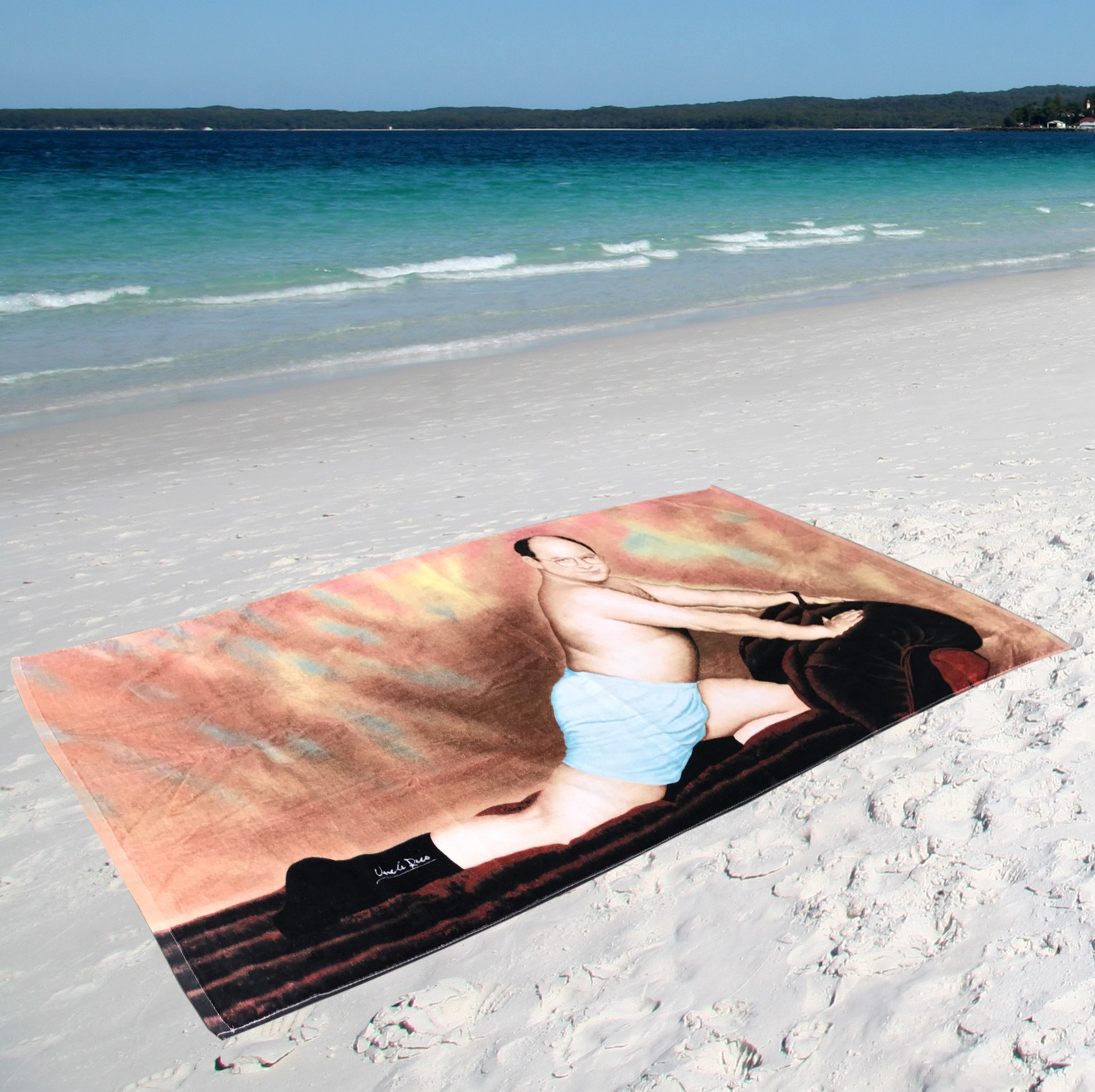 GEORGE COSTANZA XL BEACH TOWEL