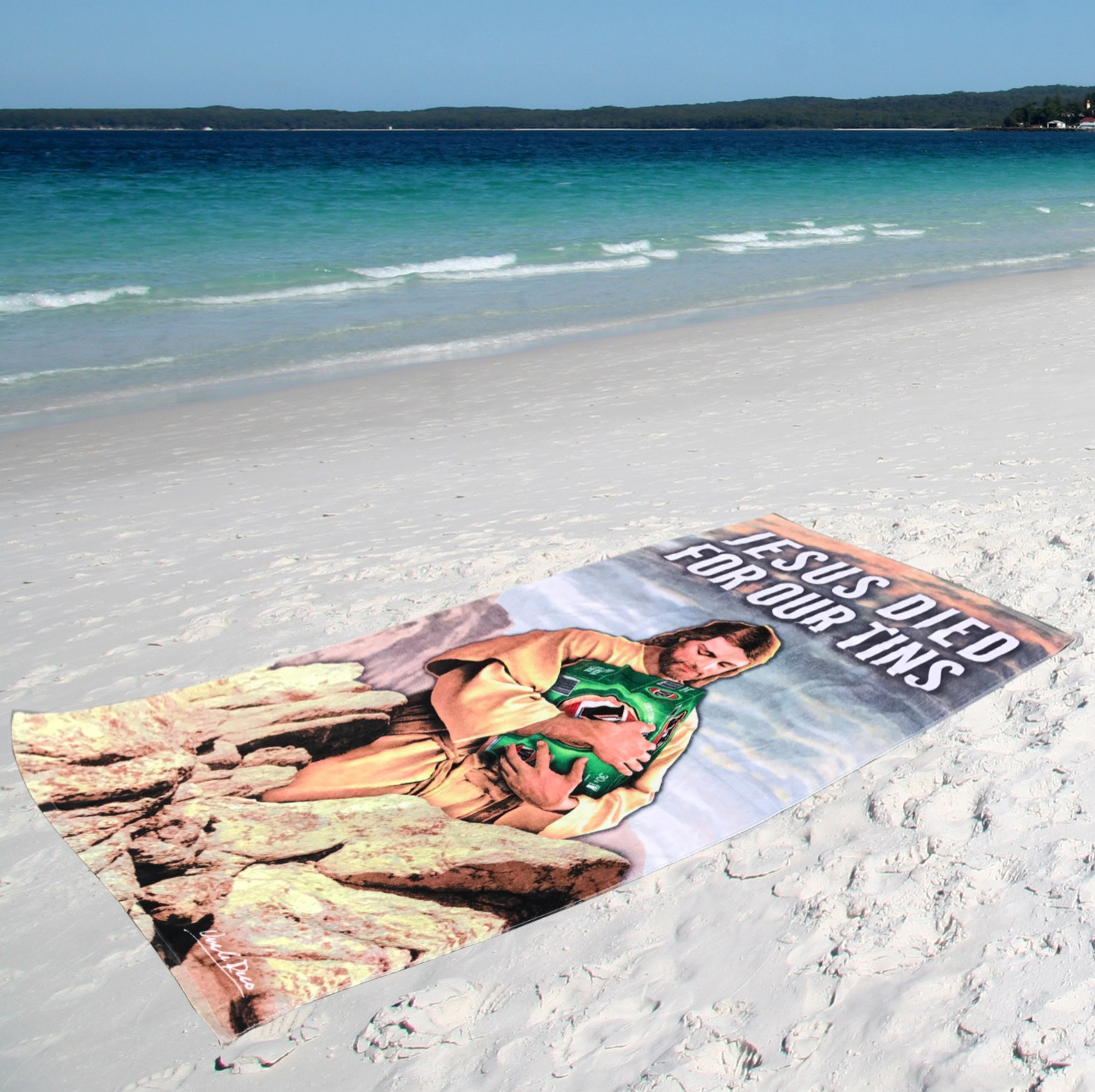 FOR OUR TINS XL BEACH TOWEL