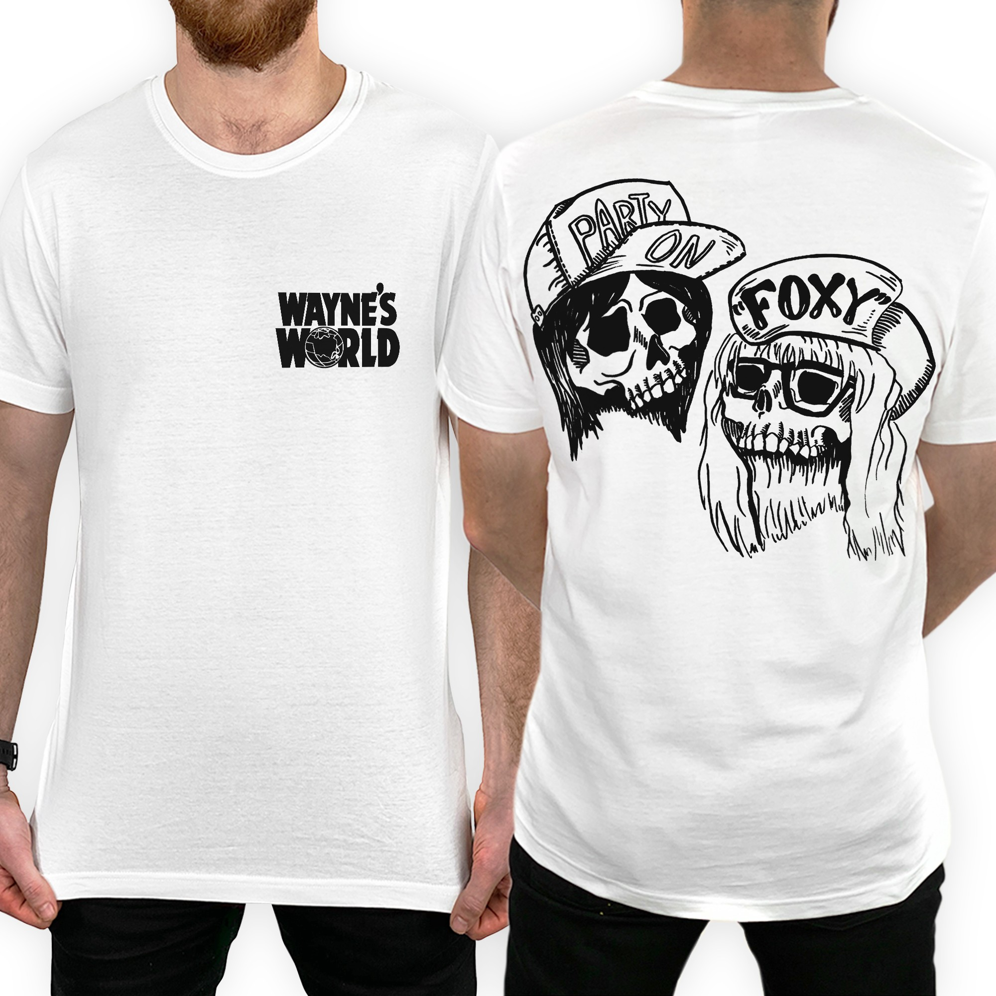 FRONT AND BACK WAYNES WORLD TEE