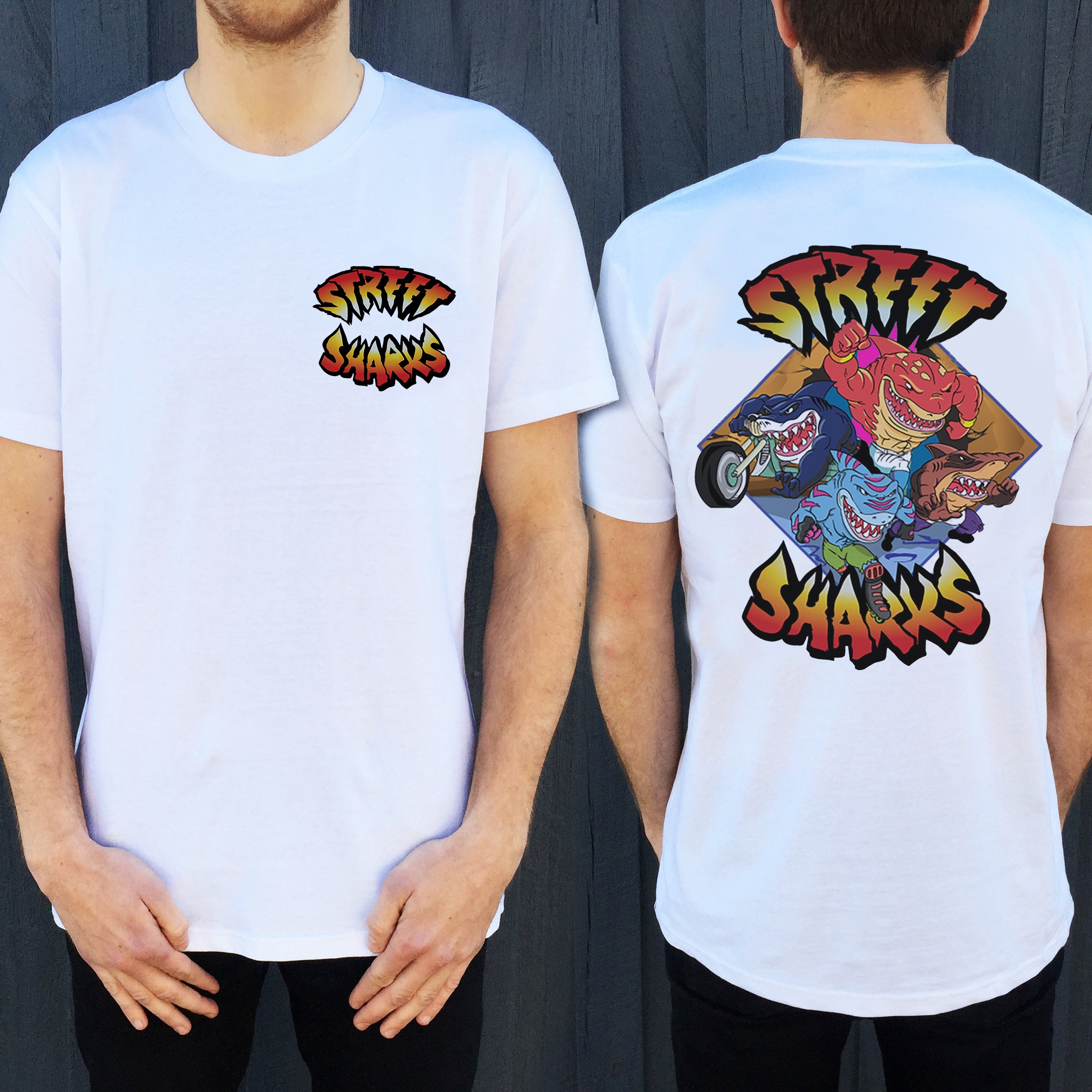 JAWSOME FRONT AND BACK TEE