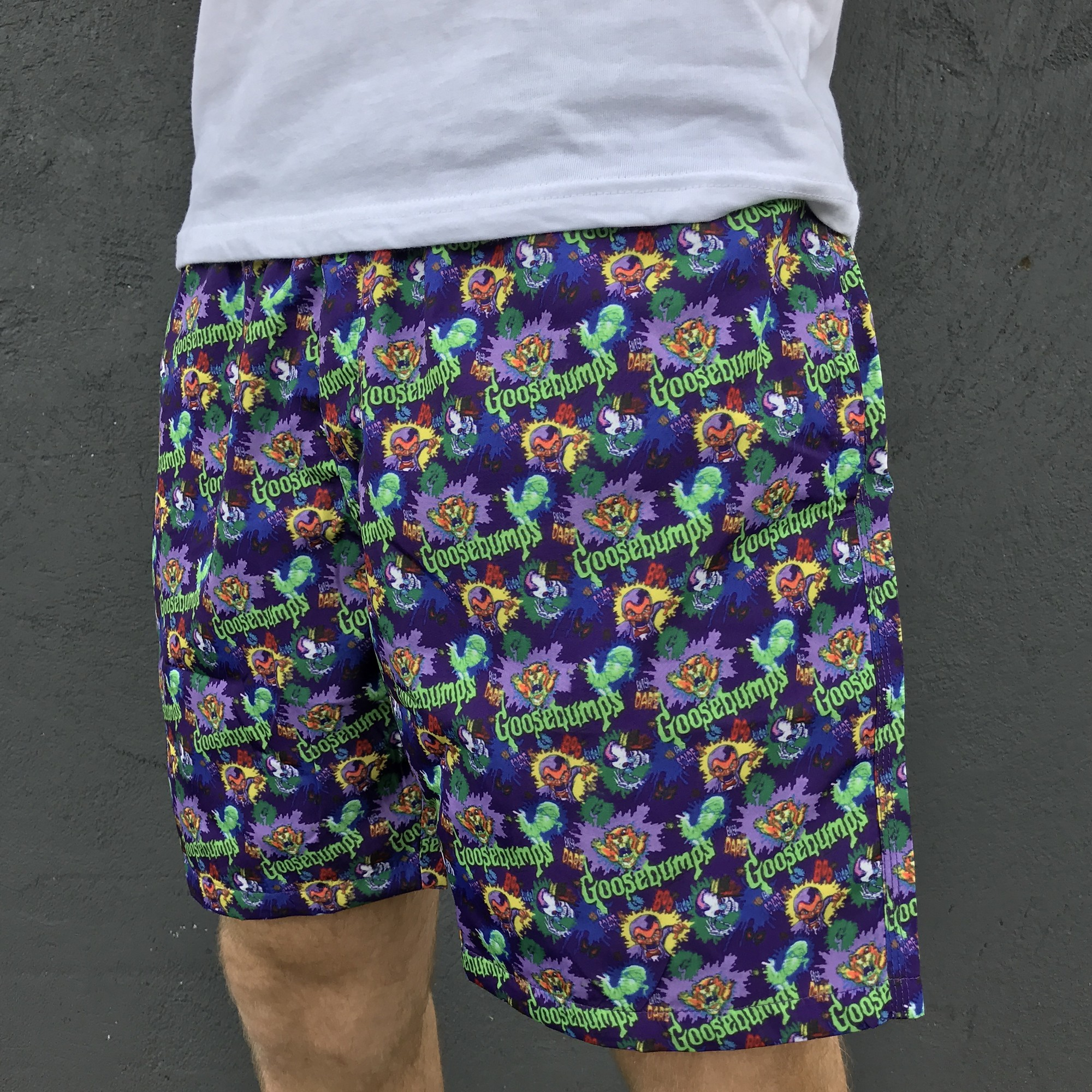 SLAPPY PURPLE SWIM SHORTS