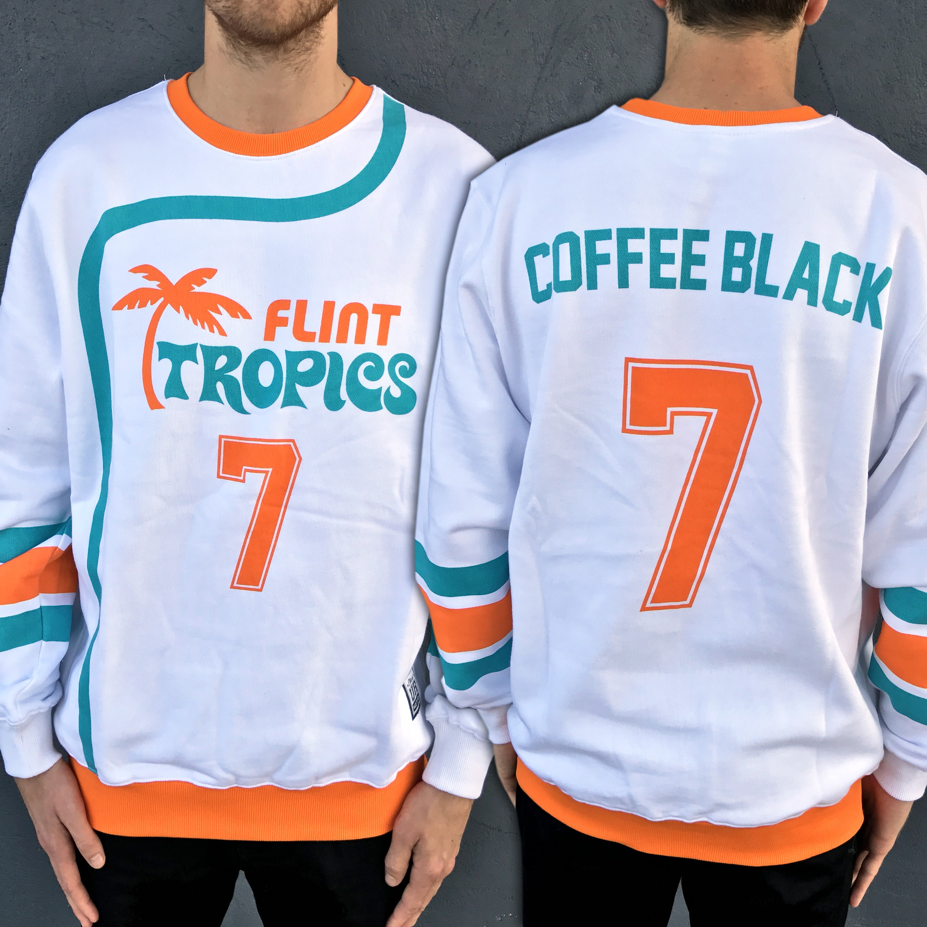 FULL PRINT COFFEE BLACK CREW