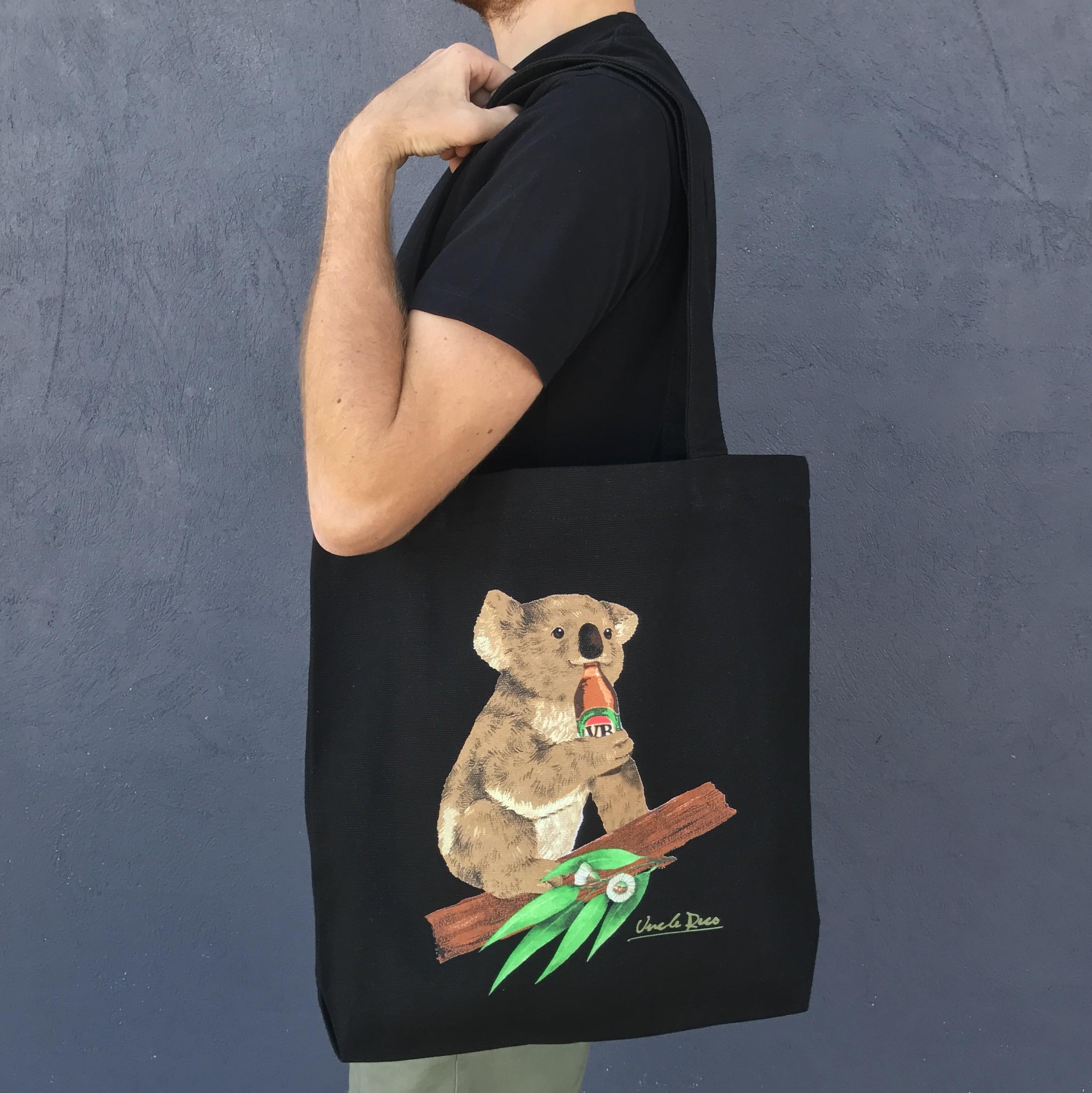 BLACK KOALA BEERS TOTE BAG