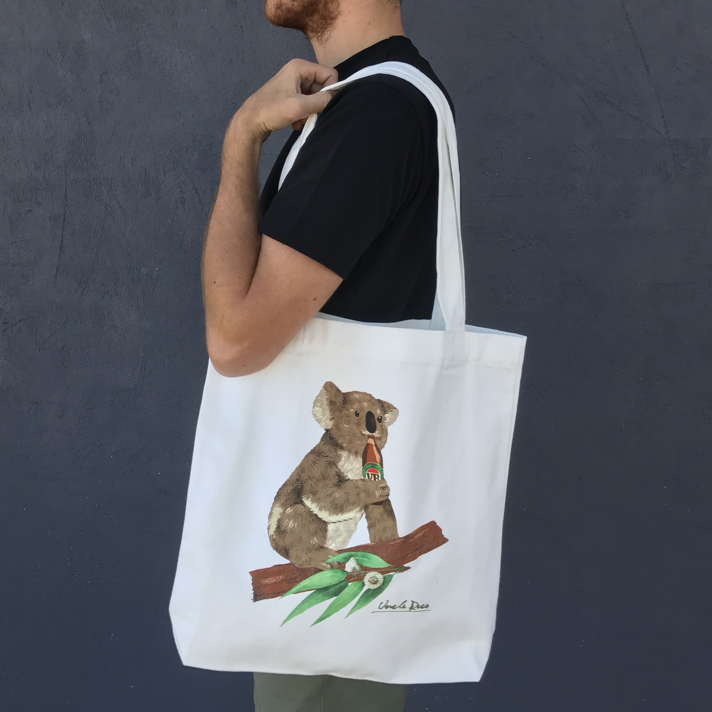 KOALA CREAM TOTE BAG