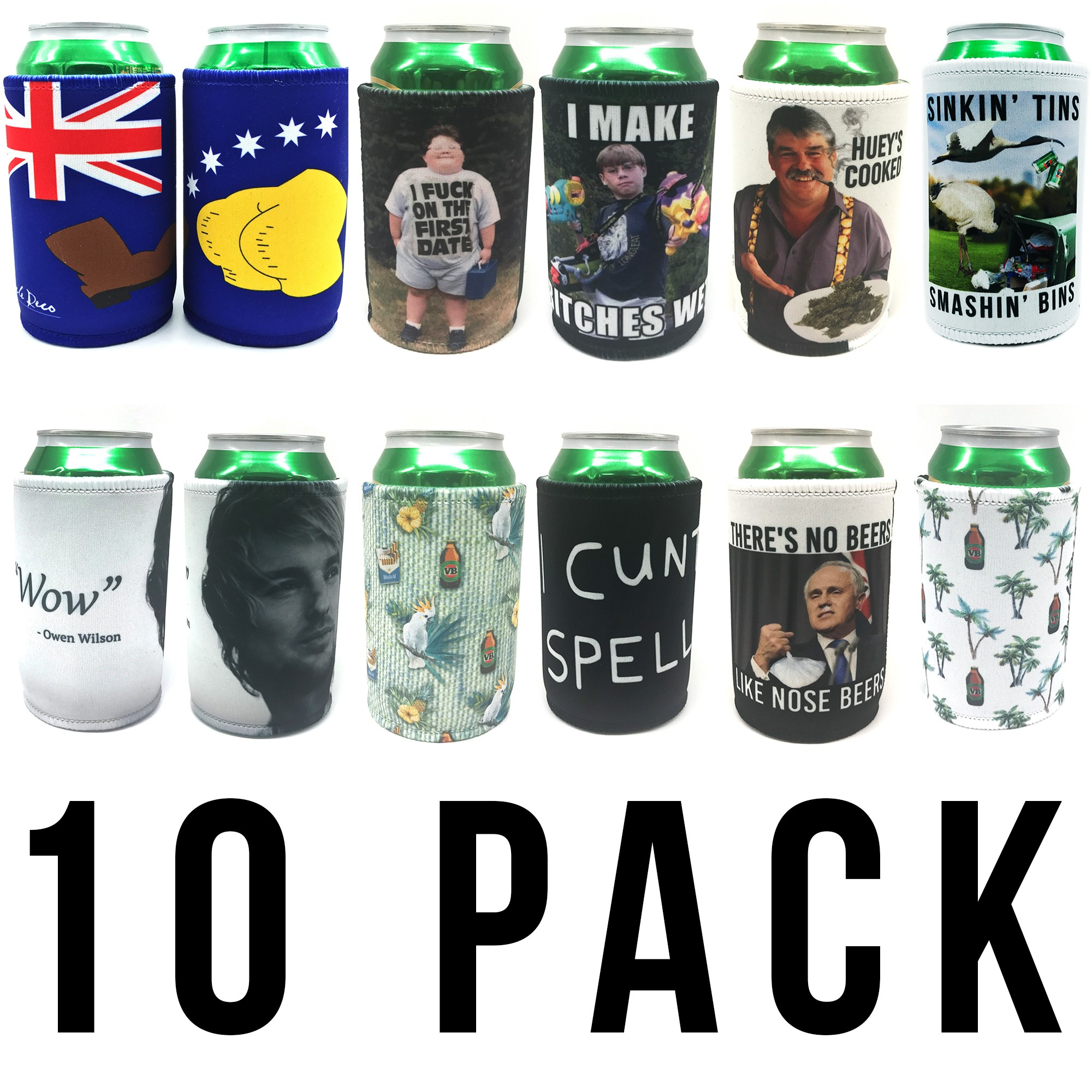 UNCLES ULTIMATE 10 PACK STUBBY COMBO