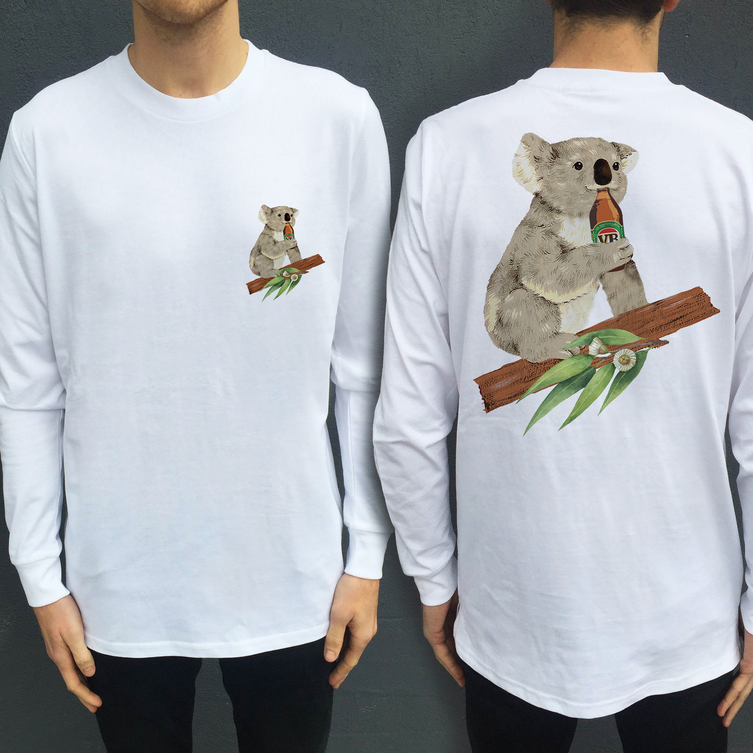 KOALA BEERS LONGSLEEVE FRONT AND BACK
