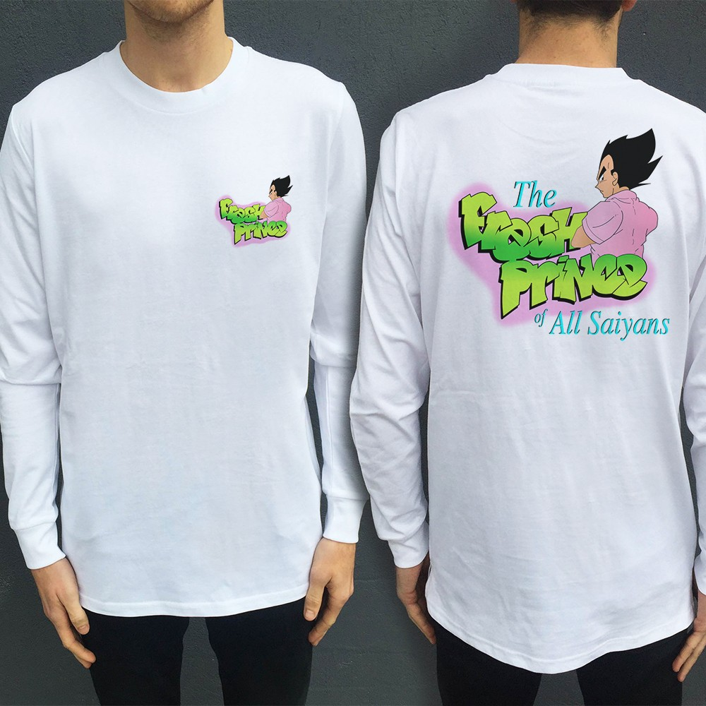 FP OF SAIYANS LONGSLEEVE FRONT AND BACK