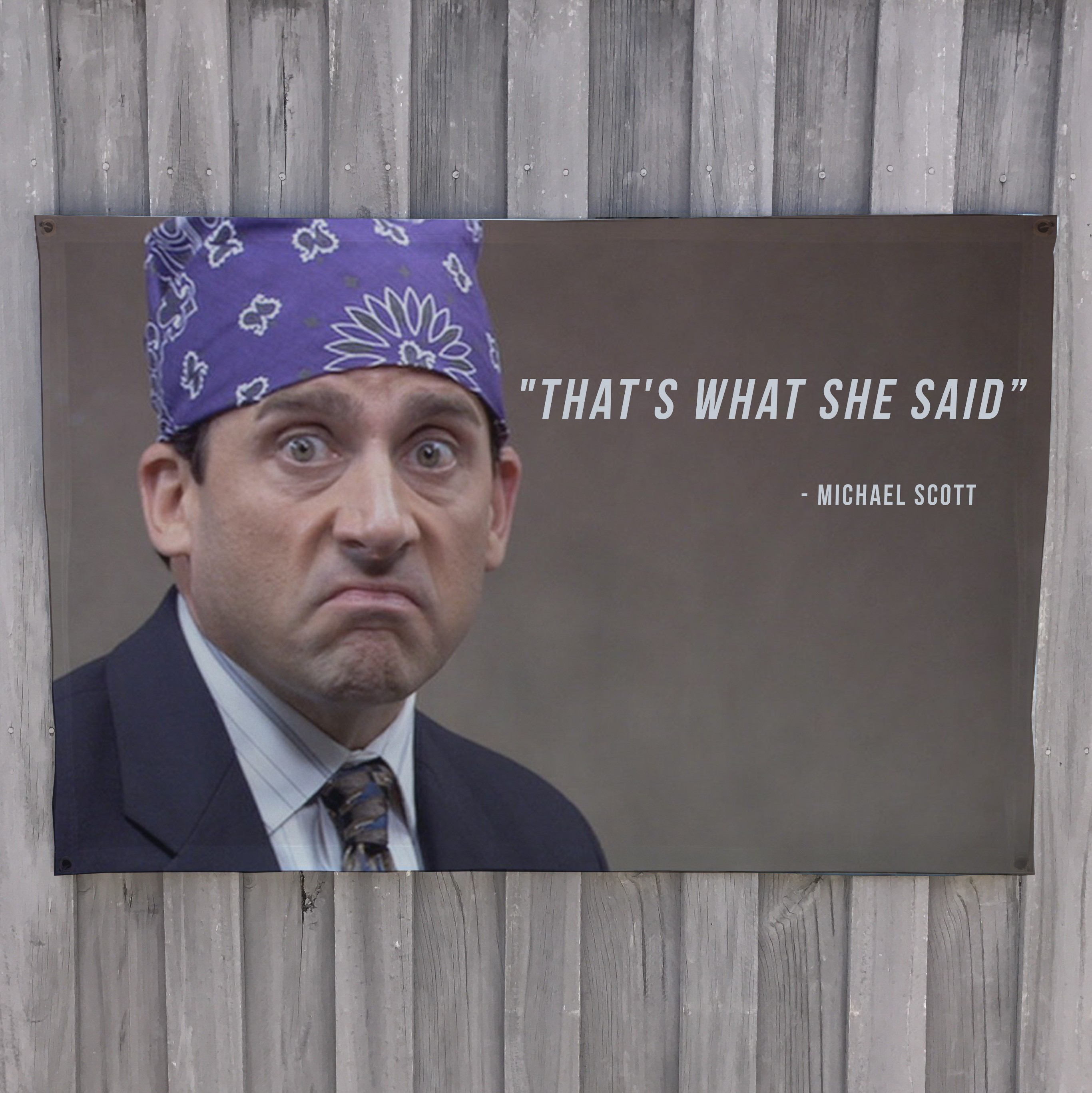 WHAT SHE SAID WALL HANGING 1200 X 800MM