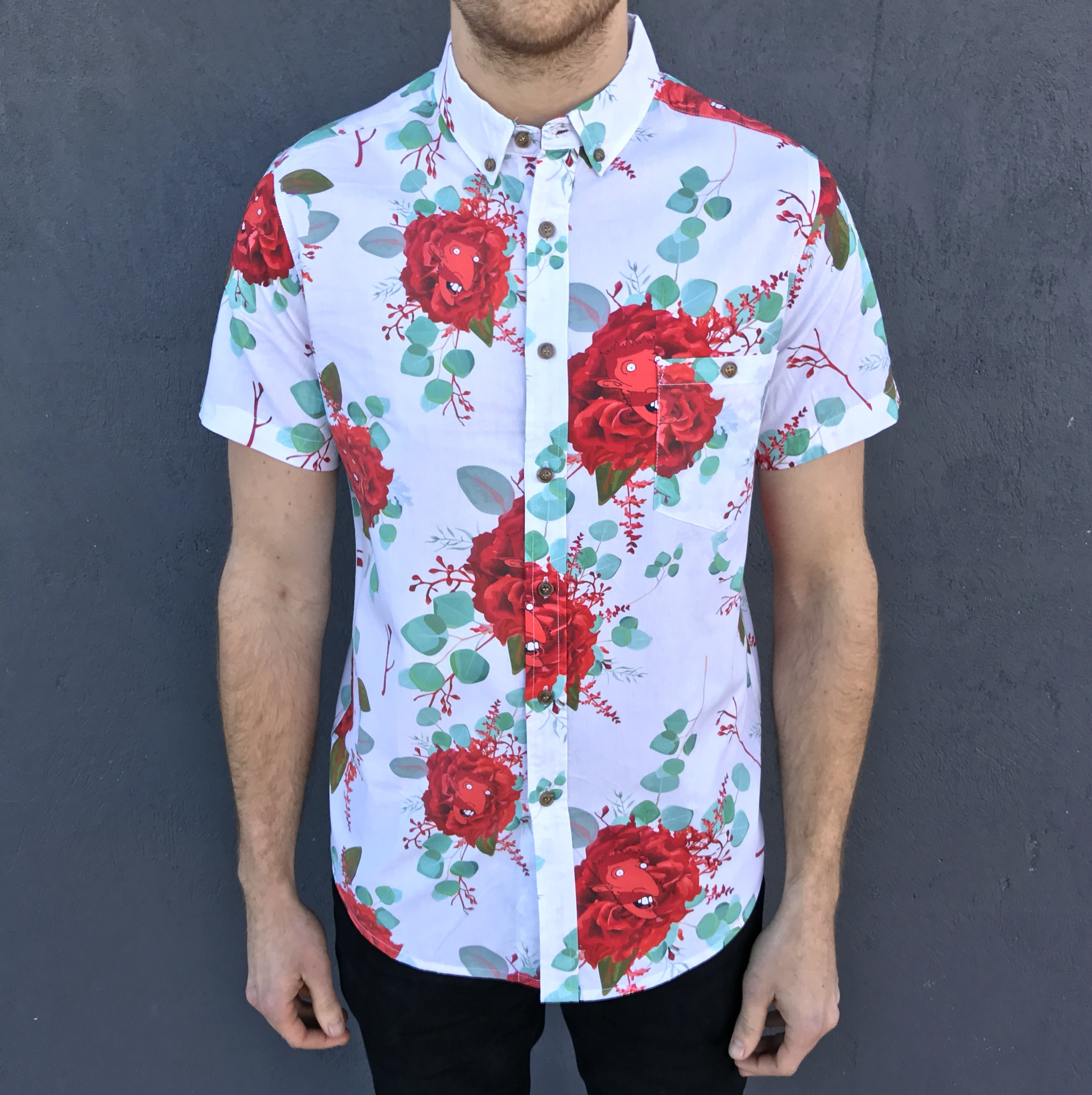 EVERY ROSE BUTTON UP SHIRT