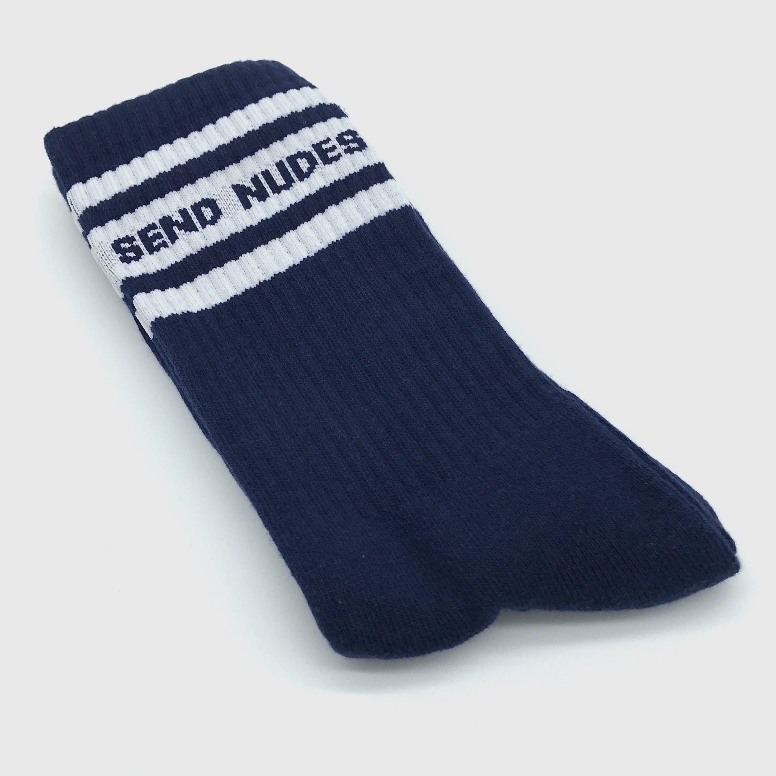 SEND NUDES NAVY/WHITE SOCKS