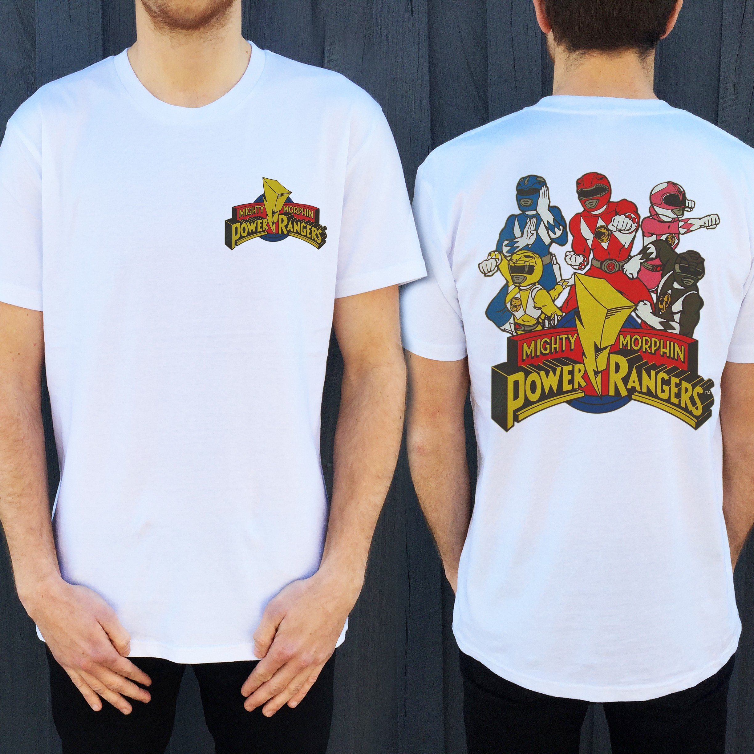 MMPR FRONT AND BACK TEE, Mmpr Front And Back T-Shirt