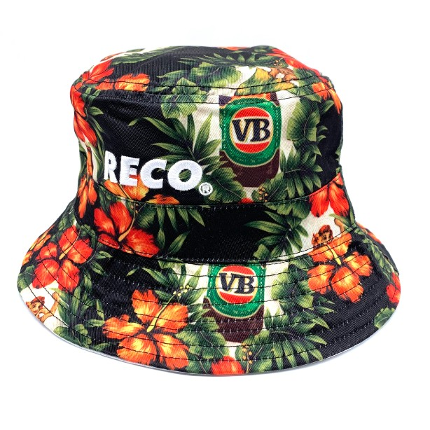 BLACK HULA BUCKET HAT