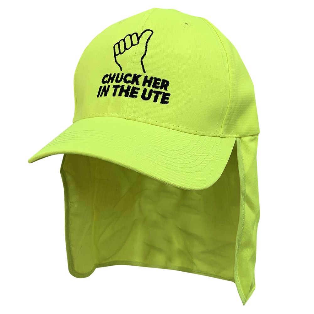 CHUCK HER IN THE UTE HI VIS LEGIONNAIRES HAT
