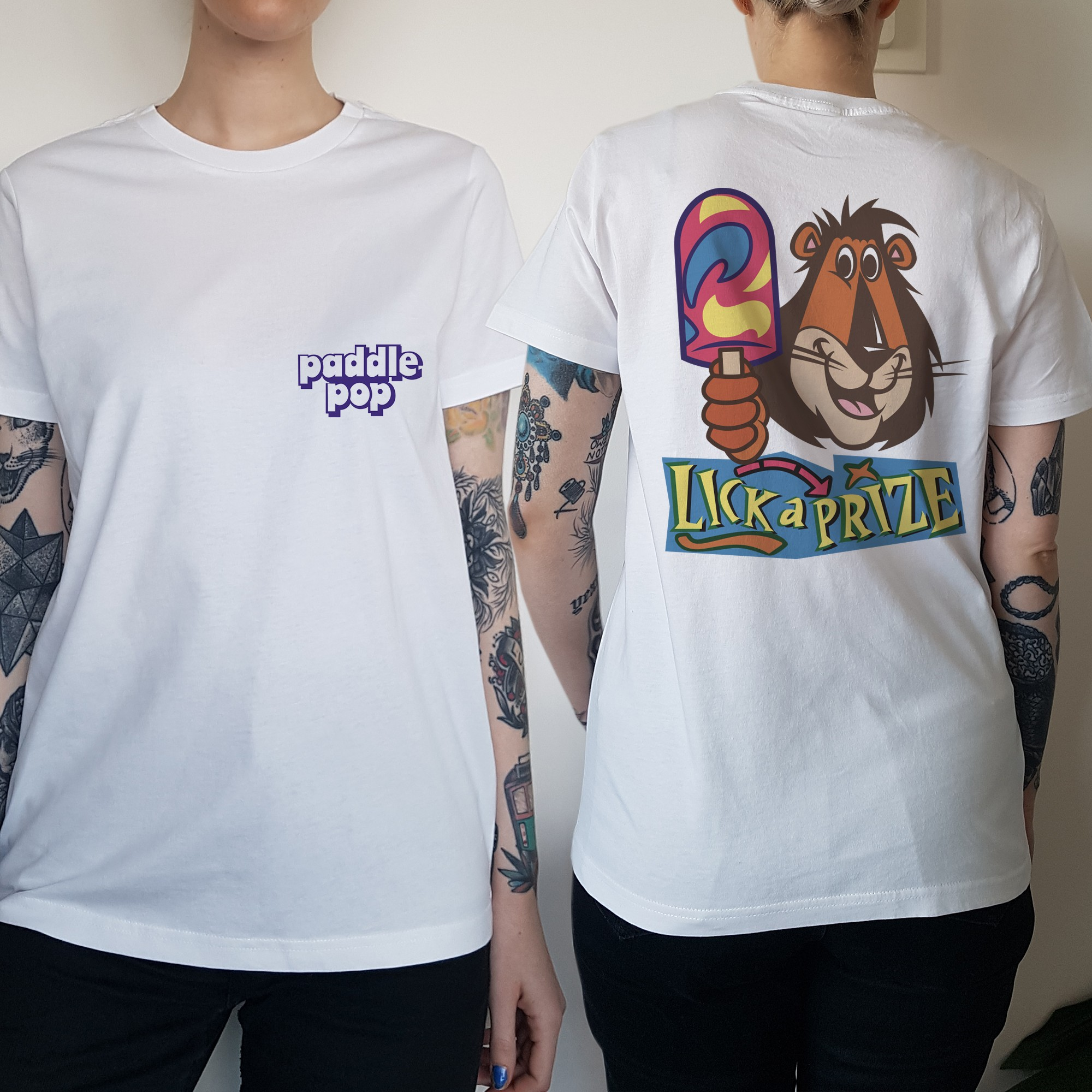 WOMENS PADDLE FRONT AND BACK TEE