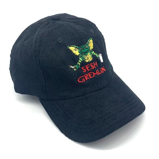 SESH GREMLIM BLACK CORD DAD HAT