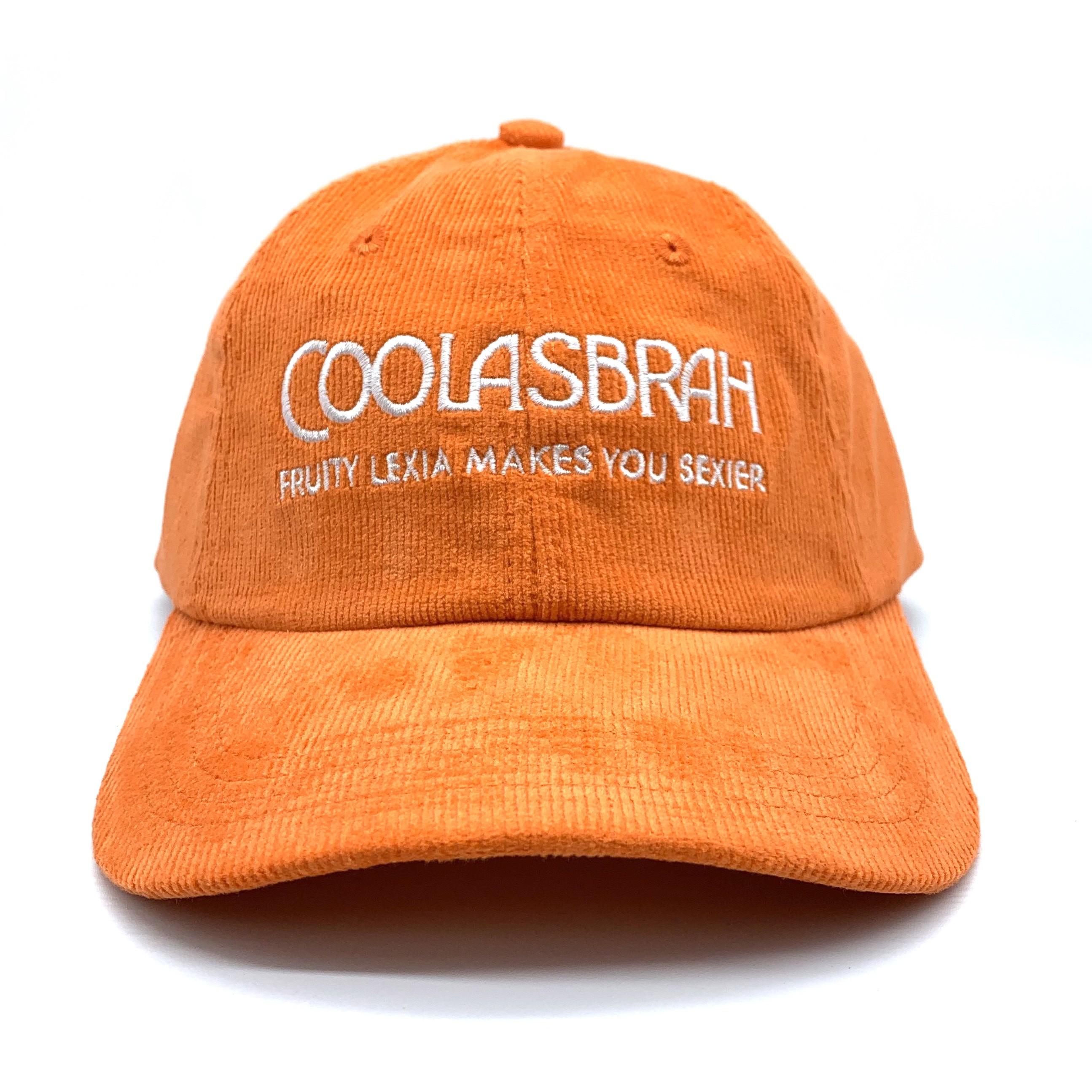COOLASBRAH ORANGE CORDUROY DAD HAT