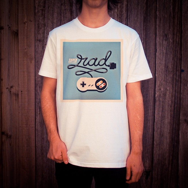 SUPER RADTENDO WHITE TEE