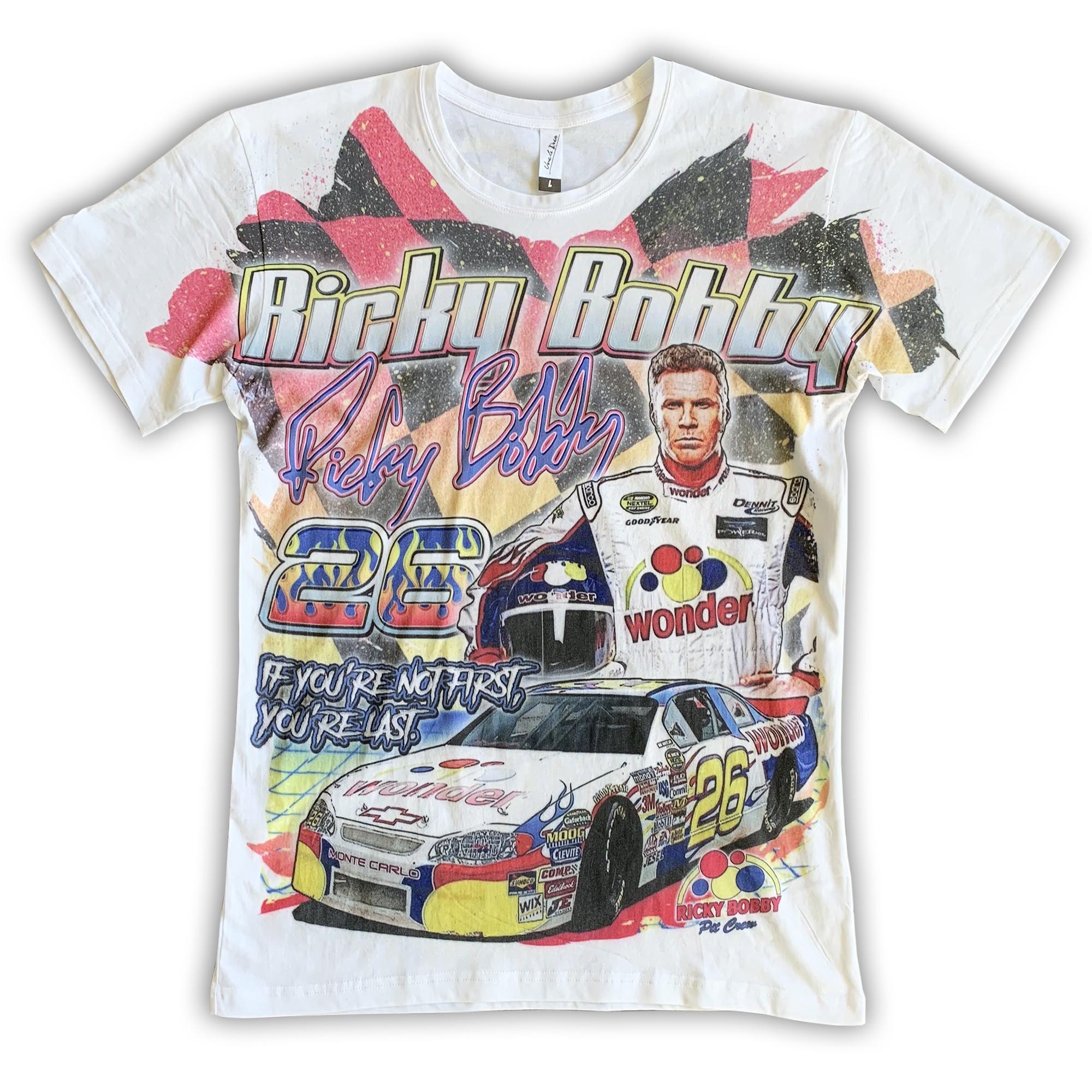 VINTAGE RICKY BOBBY NASCAR STYLE TEE