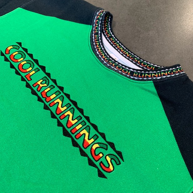 VINTAGE FULL PRINT COOL RUNNINGS CREW WITH EMBROIDERY