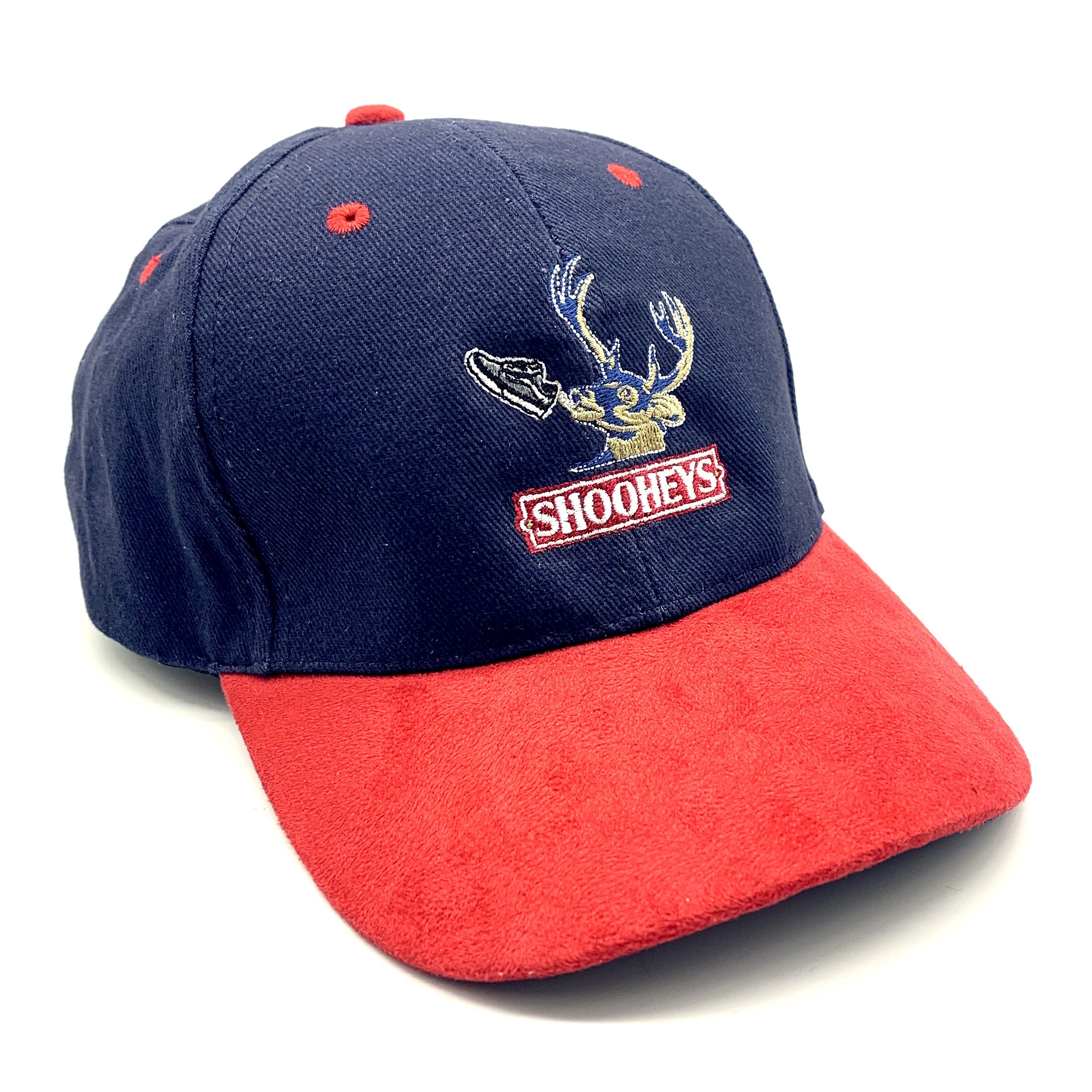 SHOOHEYS RED/NAVY DAD HAT