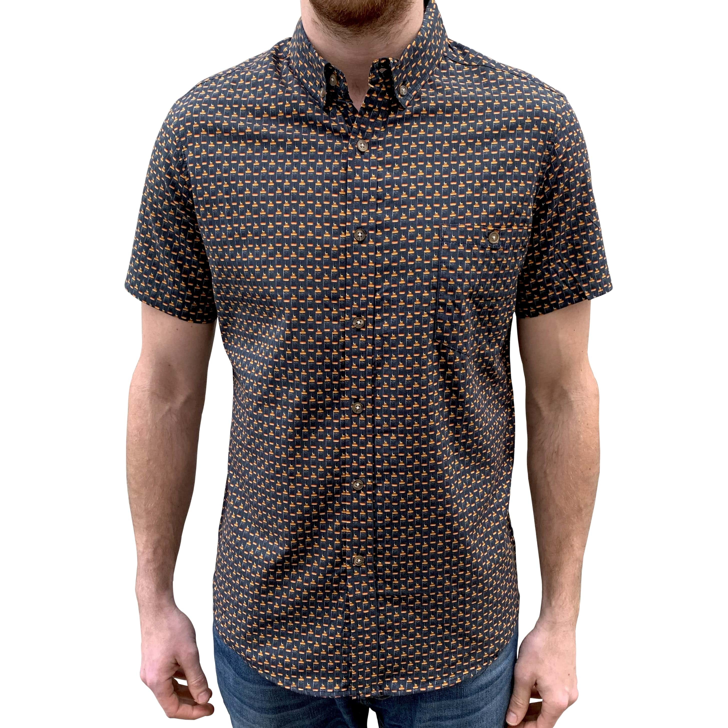 REPEATED MINI JD BUTTON UP SHIRT