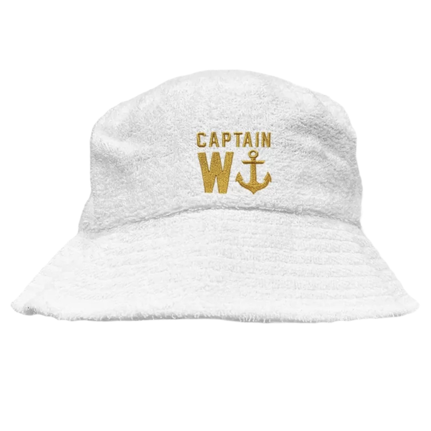 CAPTAIN TERRY TOWELLING BUCKET HAT WHITE