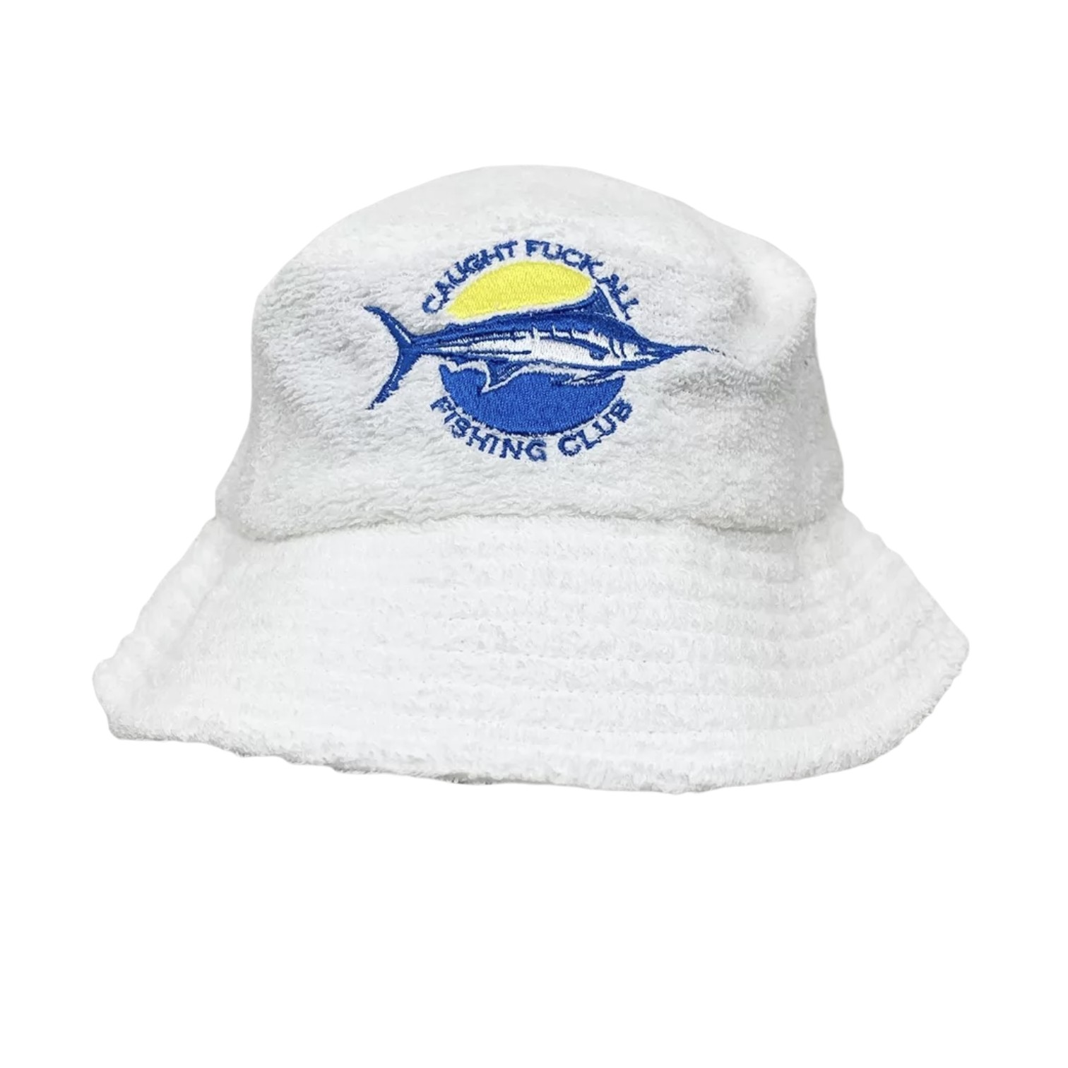 FISHING CLUB WHITE TERRY TOWELLING BUCKET HAT